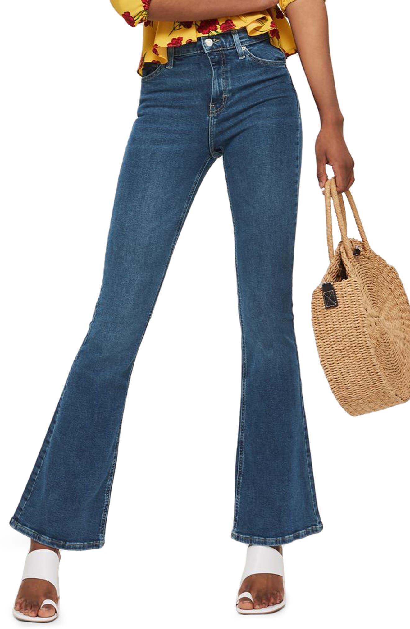 Jamie Flare Jeans, Main, color, INDIGO