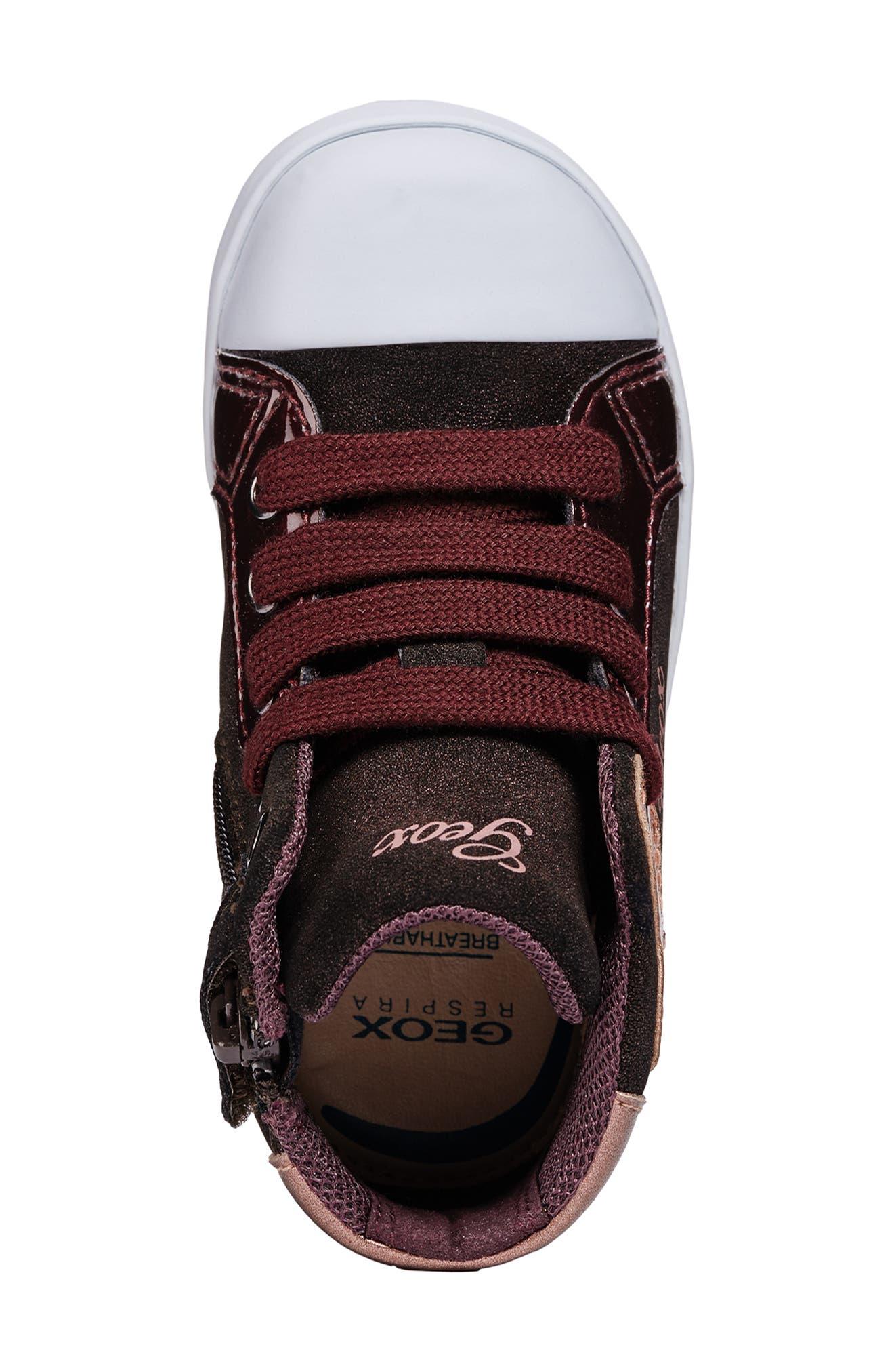 Kilwi Sparkle High Top Sneaker,                             Alternate thumbnail 4, color,                             DARK BURGUNDY