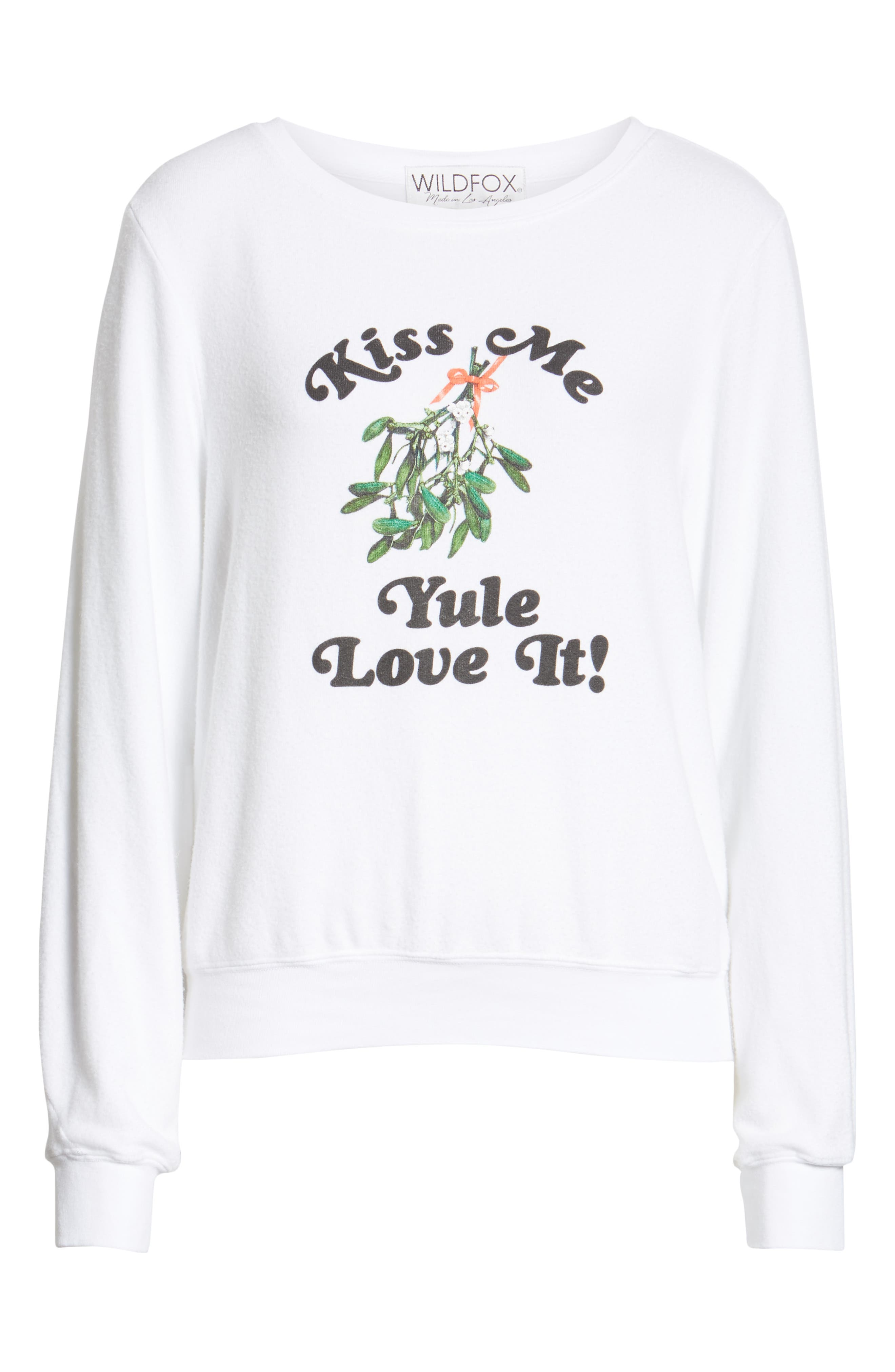 Baggy Beach Jumper - Yule Love It Pullover,                             Alternate thumbnail 6, color,                             CLEAN WHITE