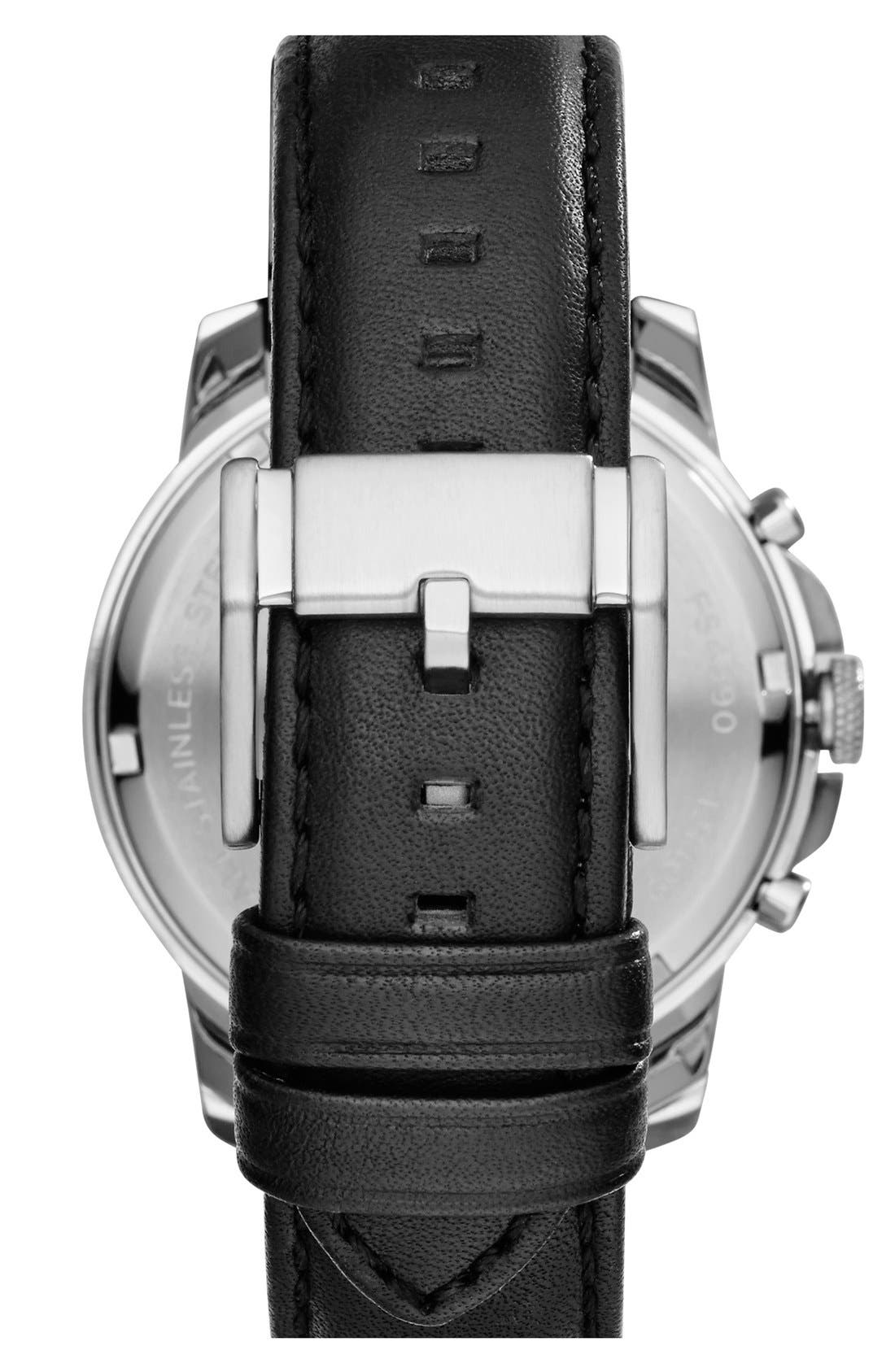 'Grant' Round Chronograph Leather Strap Watch, 44mm,                             Alternate thumbnail 37, color,