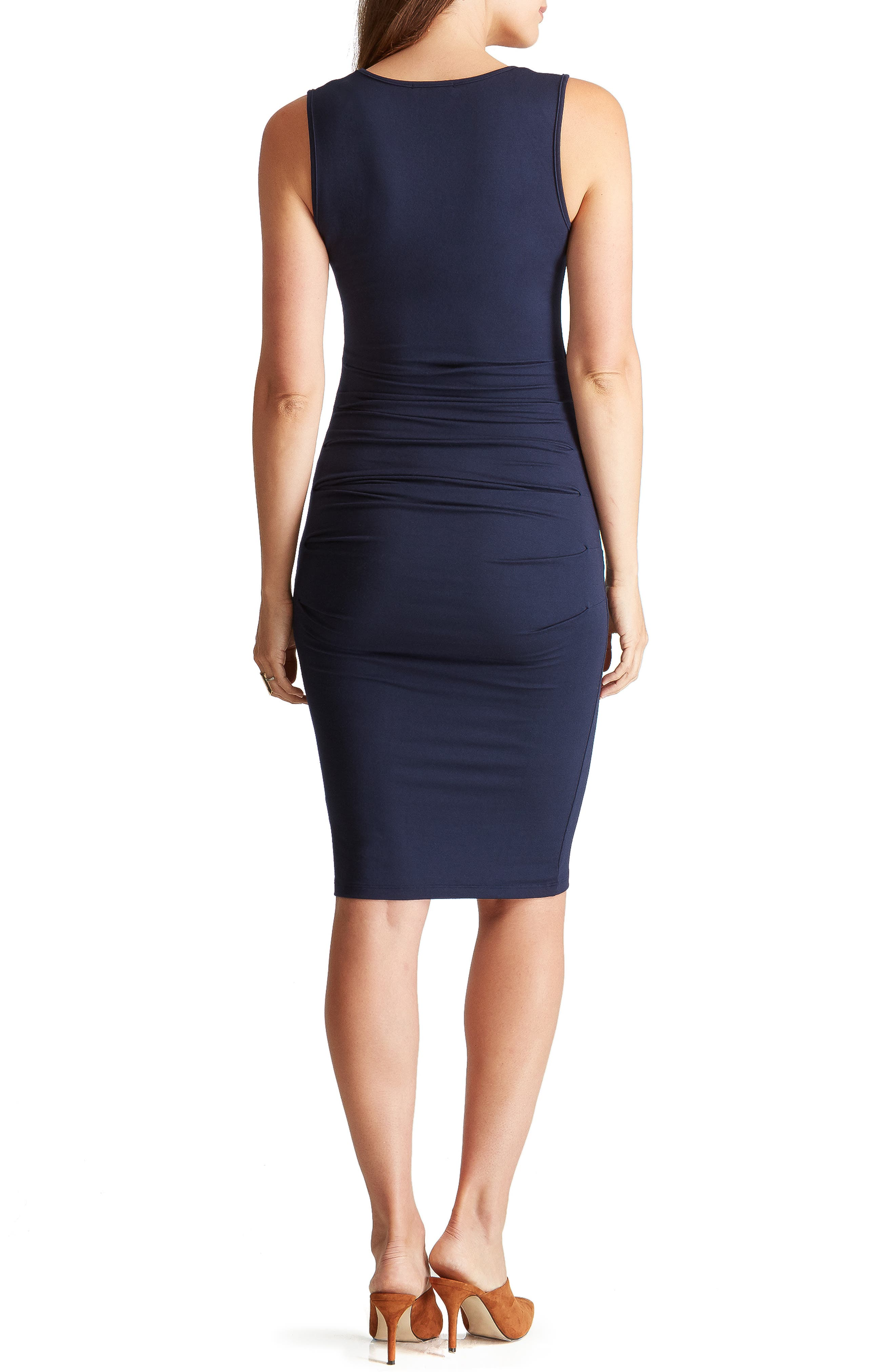 INGRID & ISABEL<SUP>®</SUP>,                             Ruched Maternity Tank Dress,                             Alternate thumbnail 2, color,                             TRUE NAVY