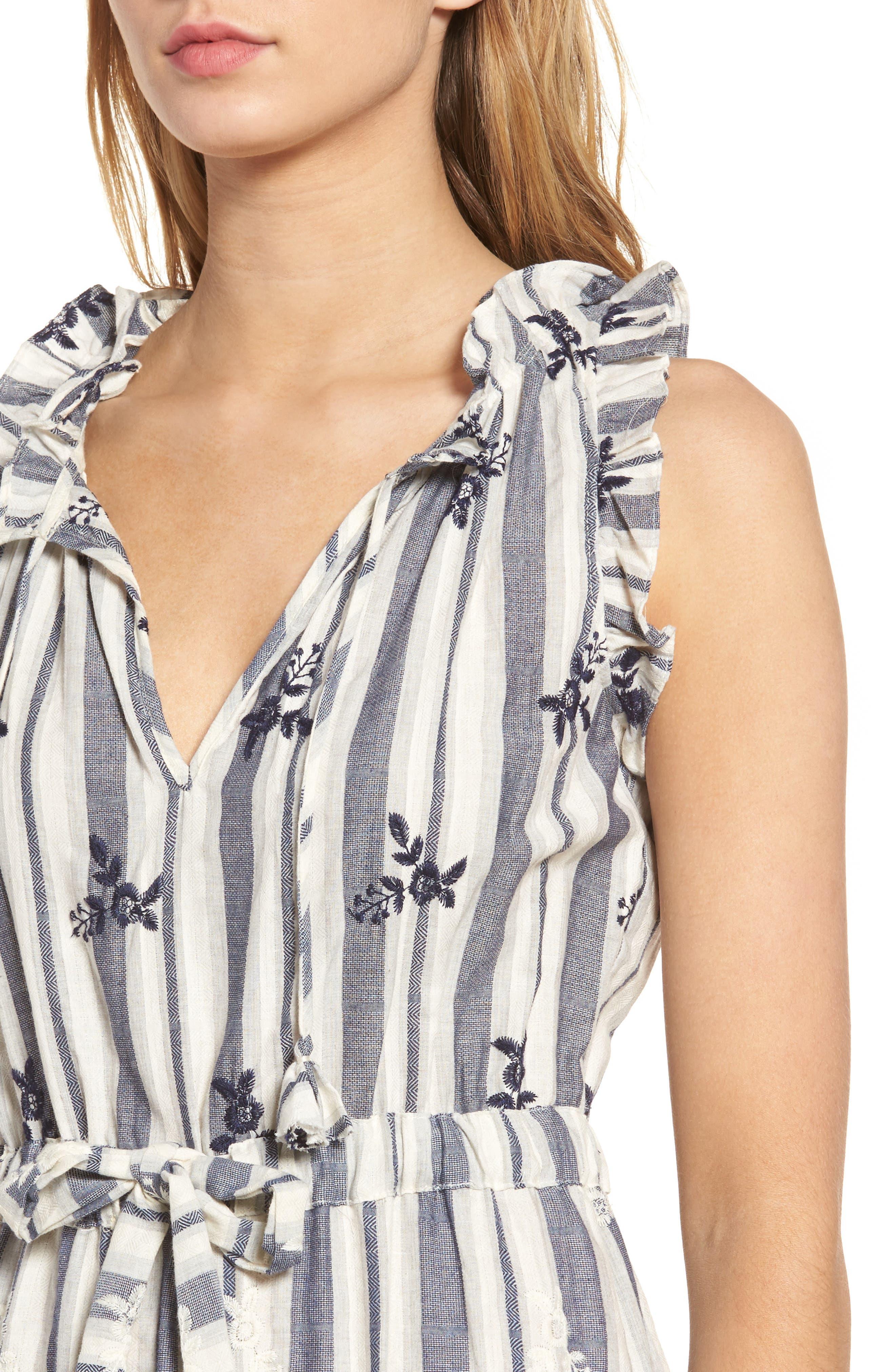 Martina Midi Dress,                             Alternate thumbnail 4, color,                             192