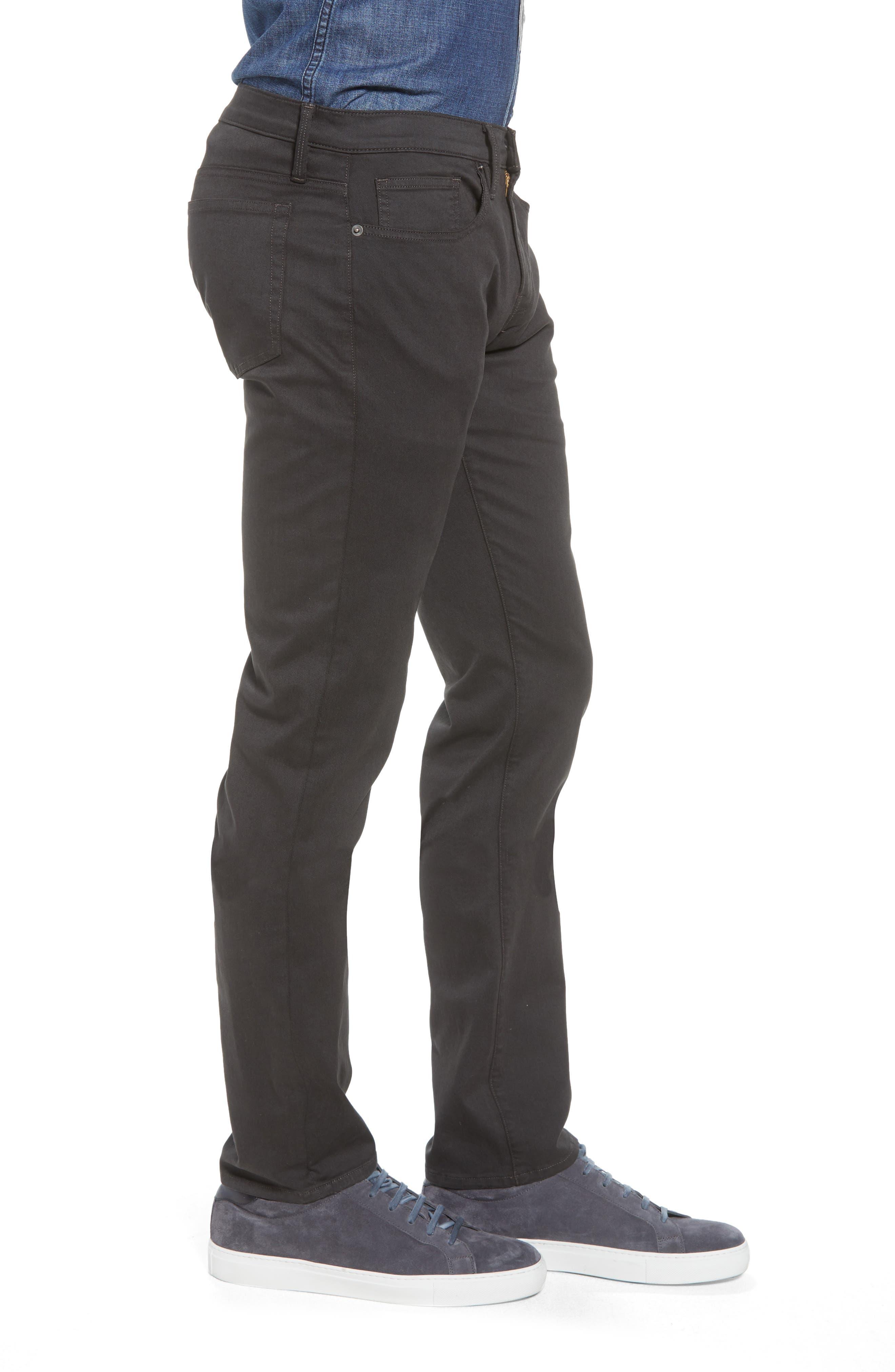 L'Homme Slim Fit Chino Pants,                             Alternate thumbnail 3, color,                             HEMATITE