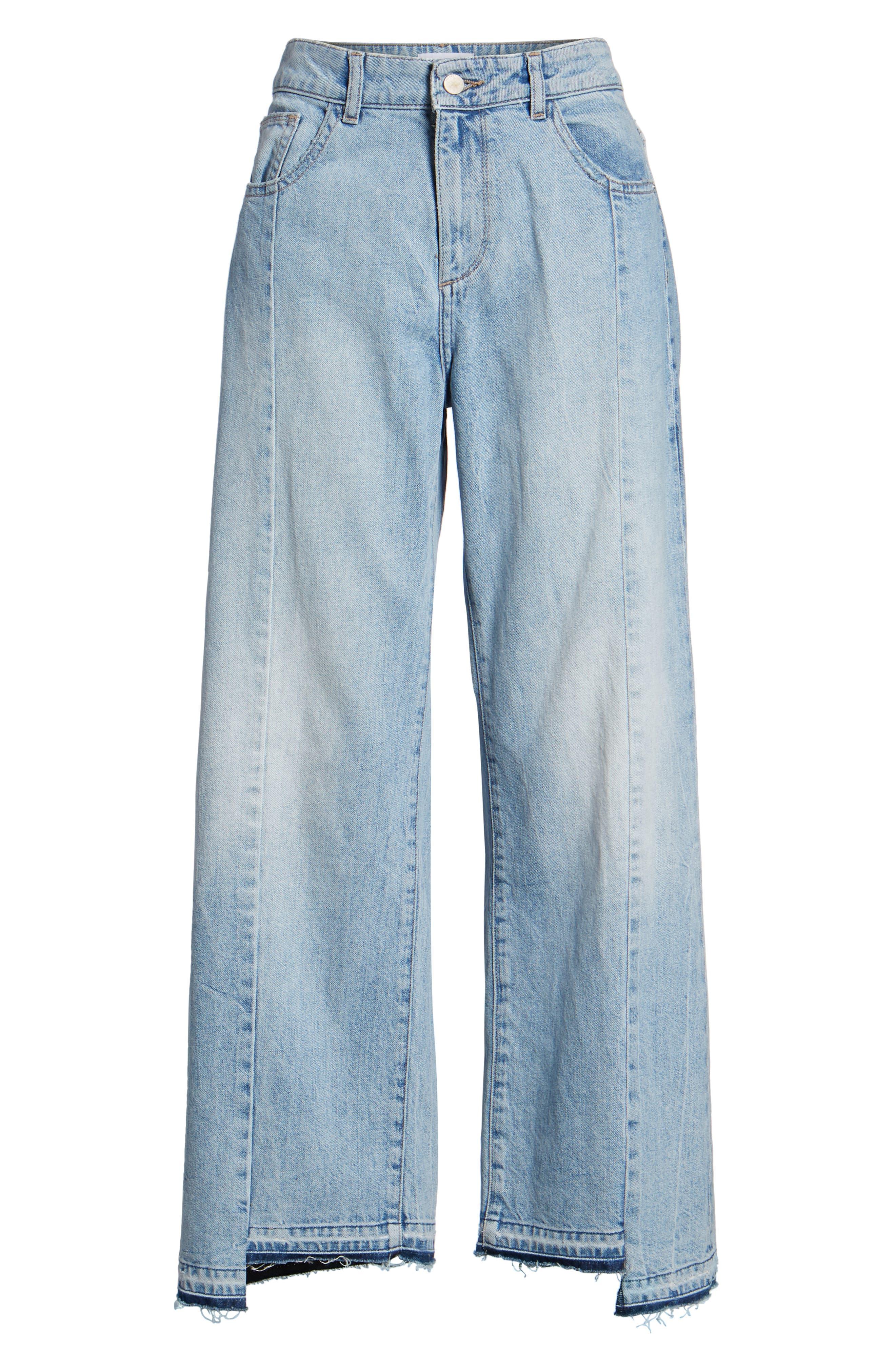 Hepburn High Waist Wide Leg Jeans,                             Alternate thumbnail 7, color,                             428