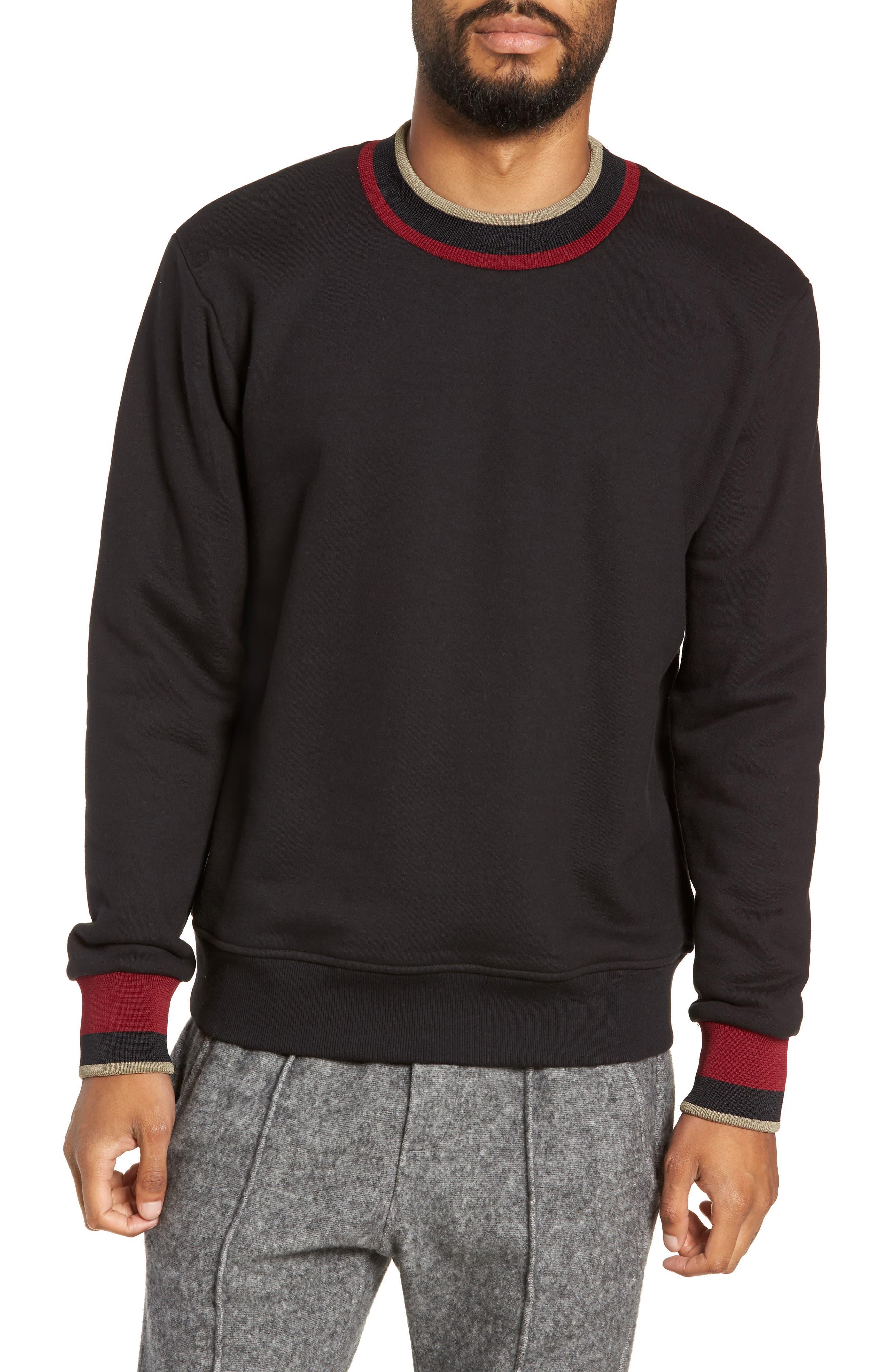 Pride Mock Neck Sweatshirt,                             Main thumbnail 1, color,                             JET BLACK