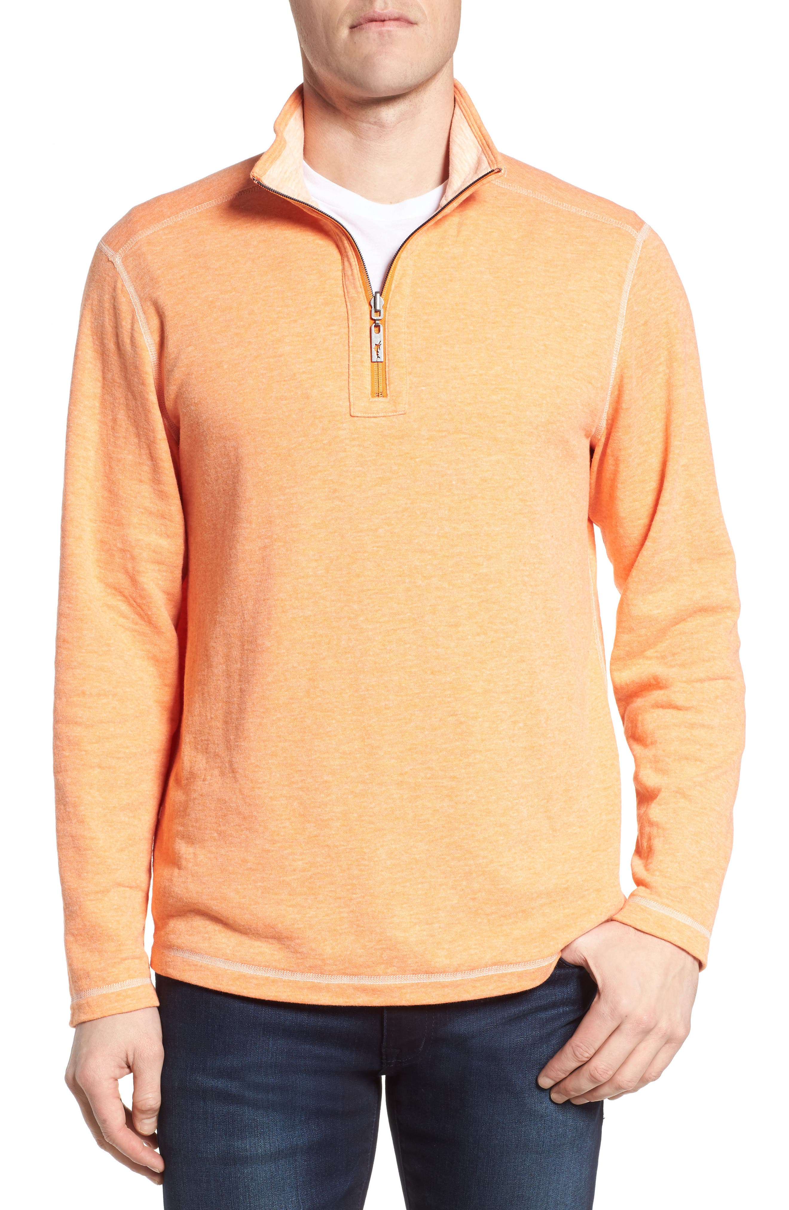 Sea Glass Reversible Quarter Zip Pullover,                             Alternate thumbnail 15, color,
