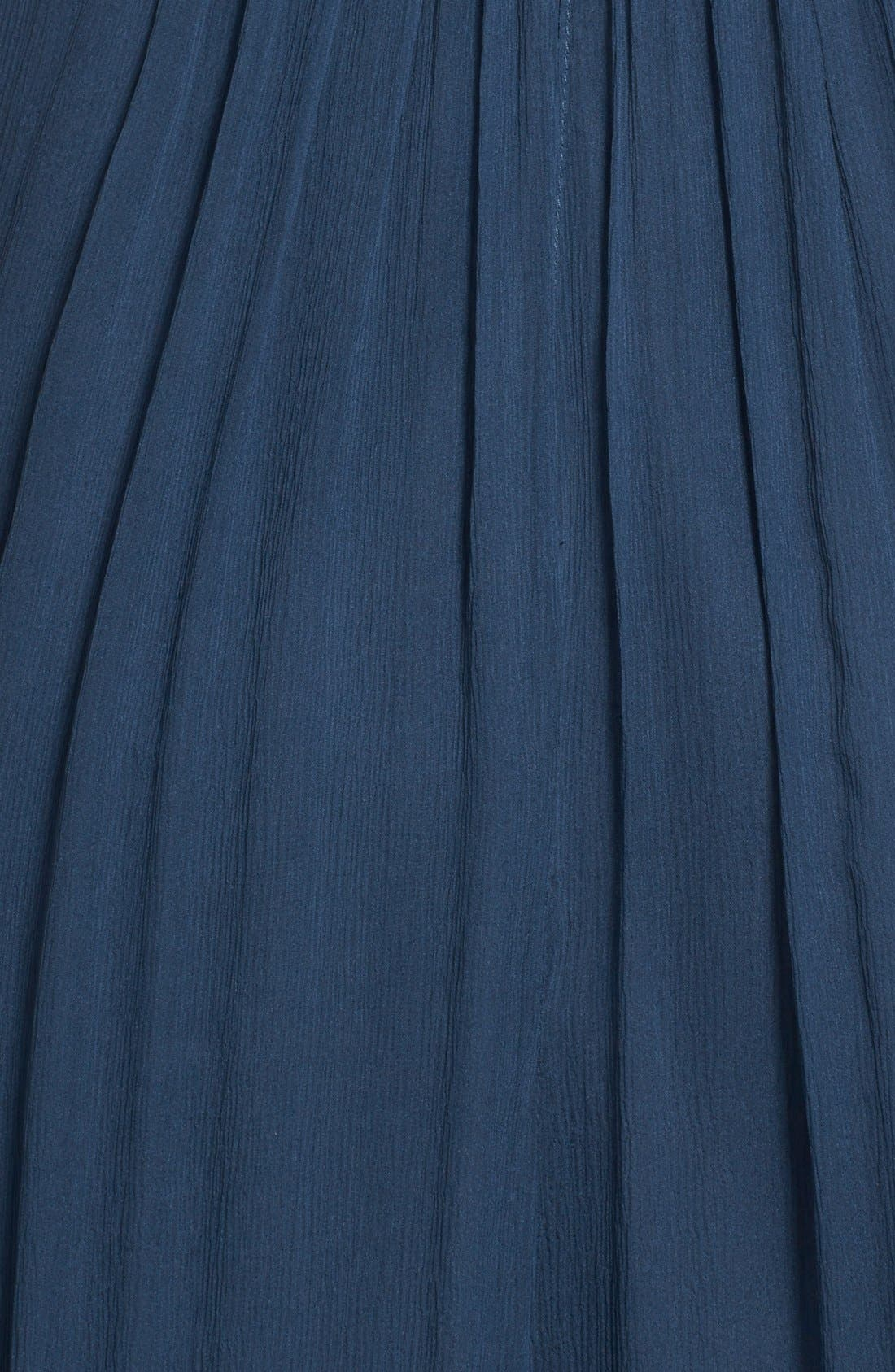 Convertible Crinkled Silk Chiffon Gown,                             Alternate thumbnail 22, color,
