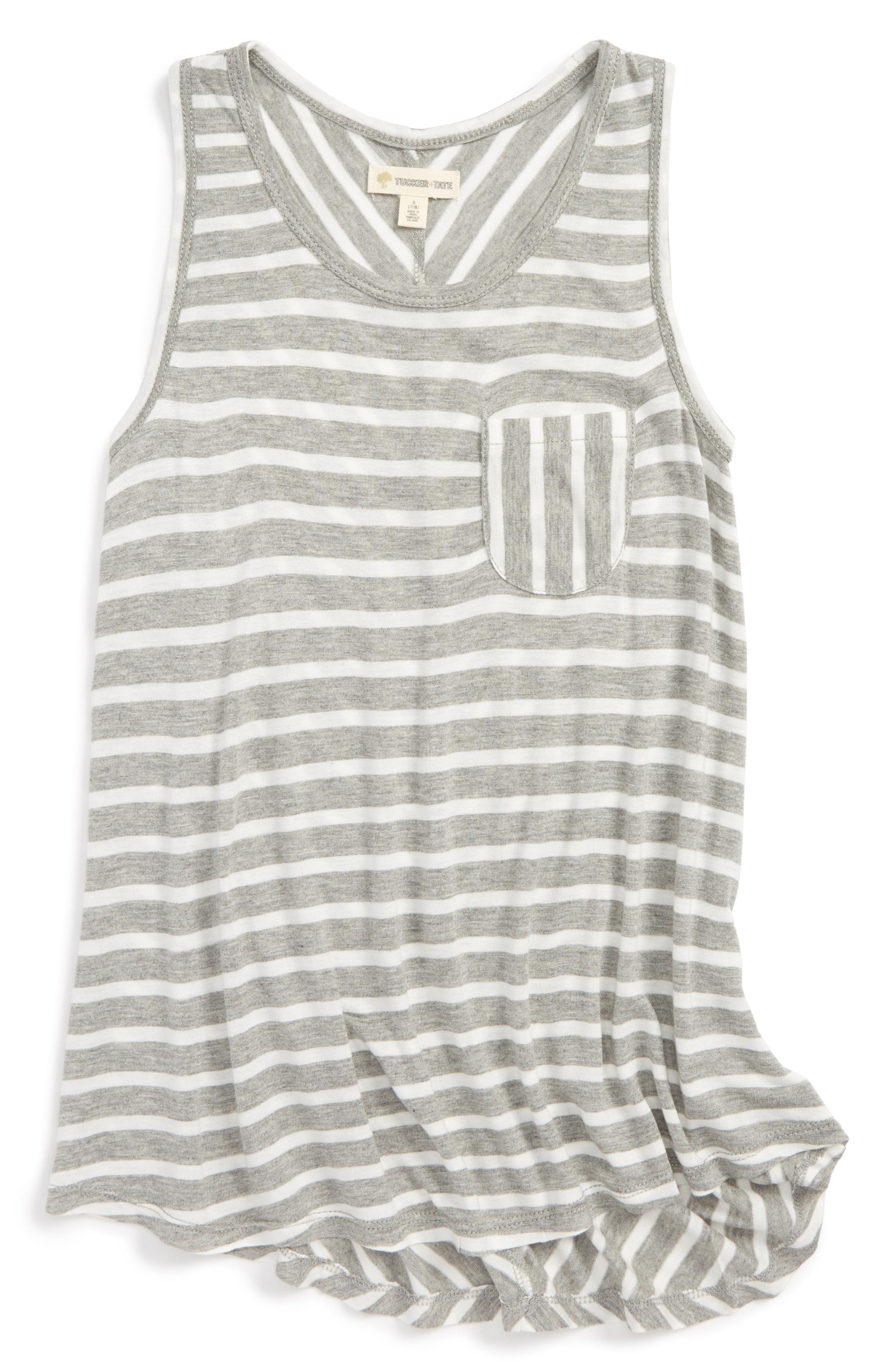 Stripe Pocket Tank,                         Main,                         color, 030