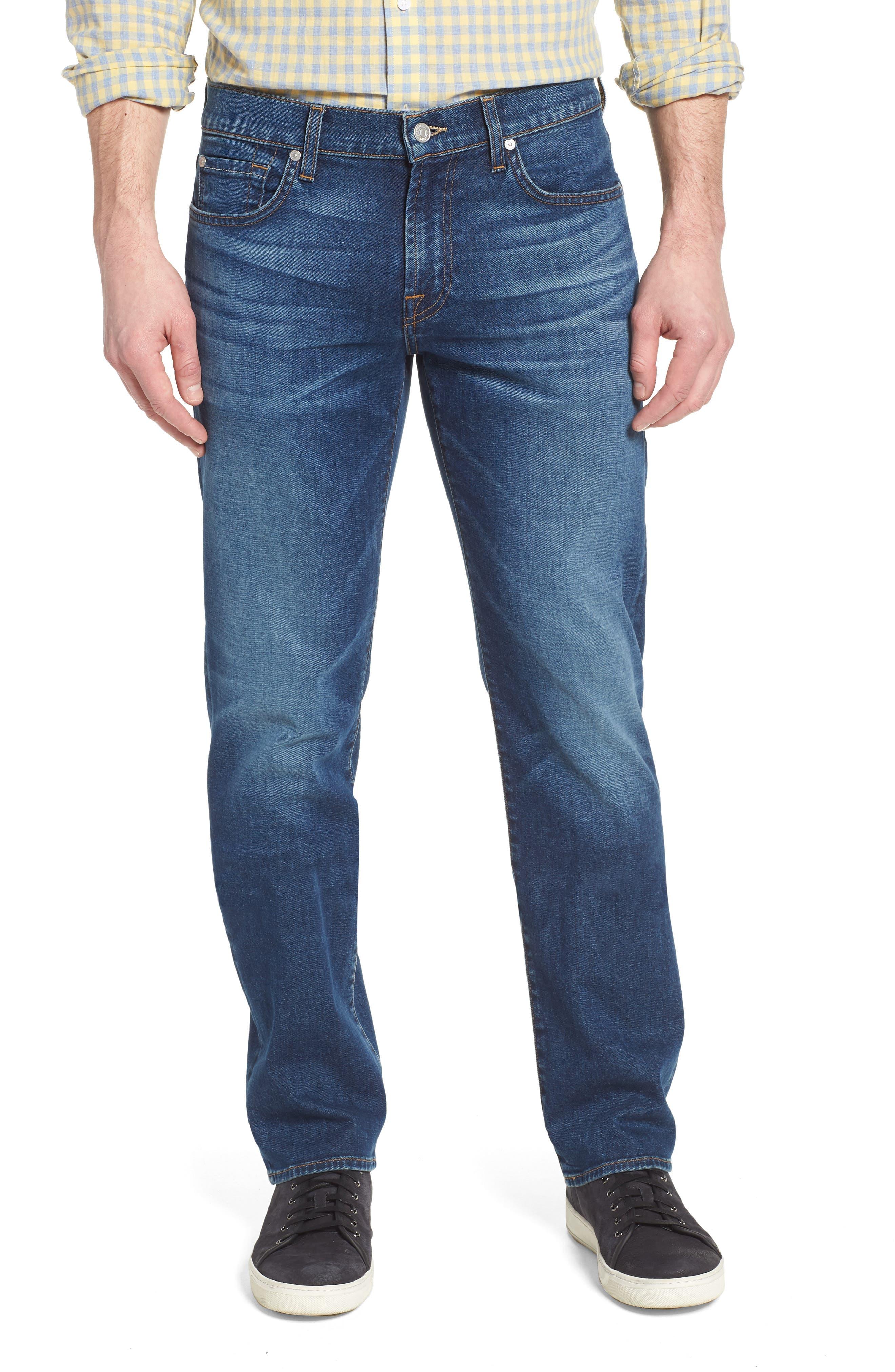 Standard Straight Leg Jeans,                             Main thumbnail 1, color,                             400