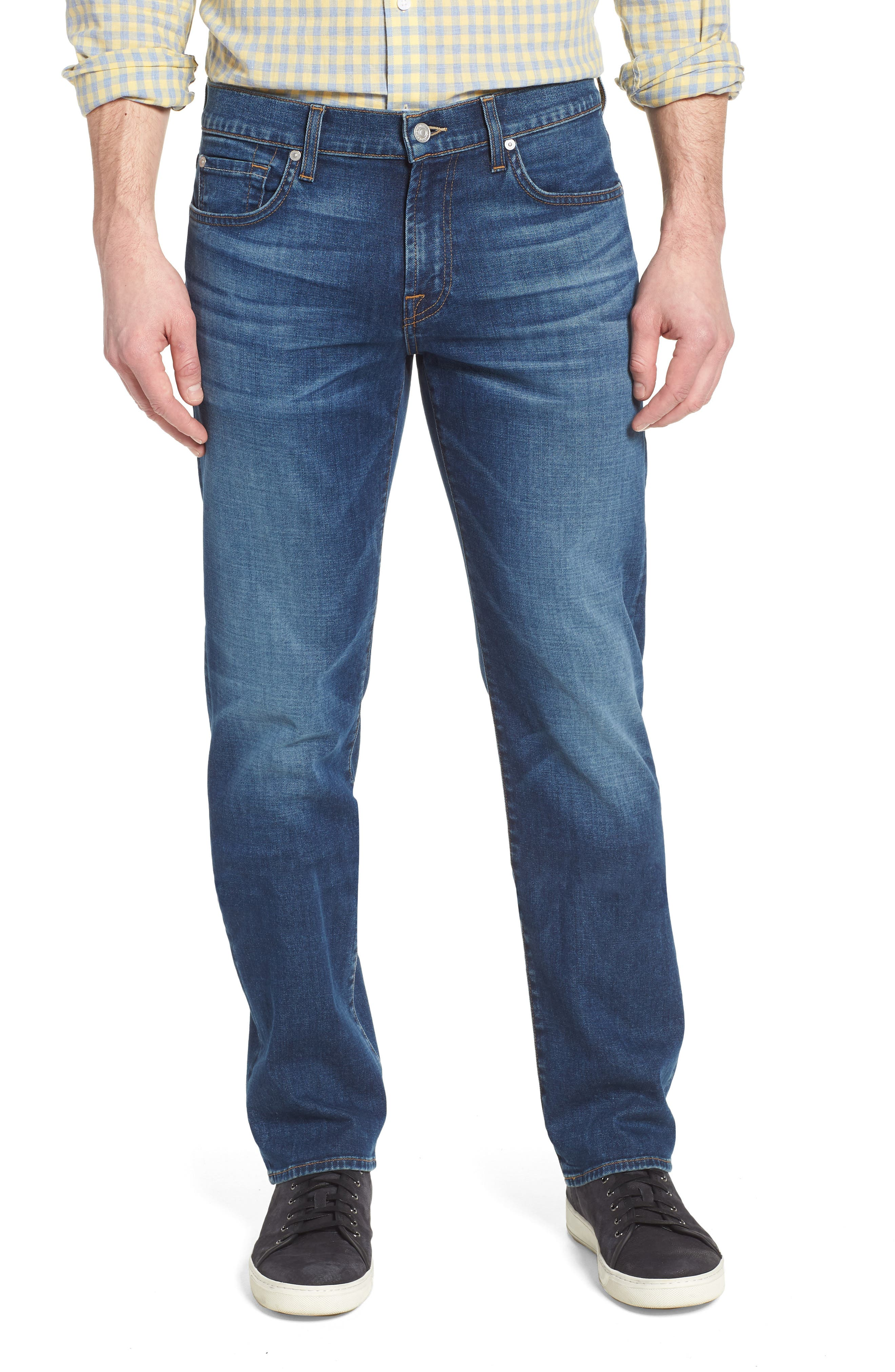Standard Straight Leg Jeans,                         Main,                         color, 400