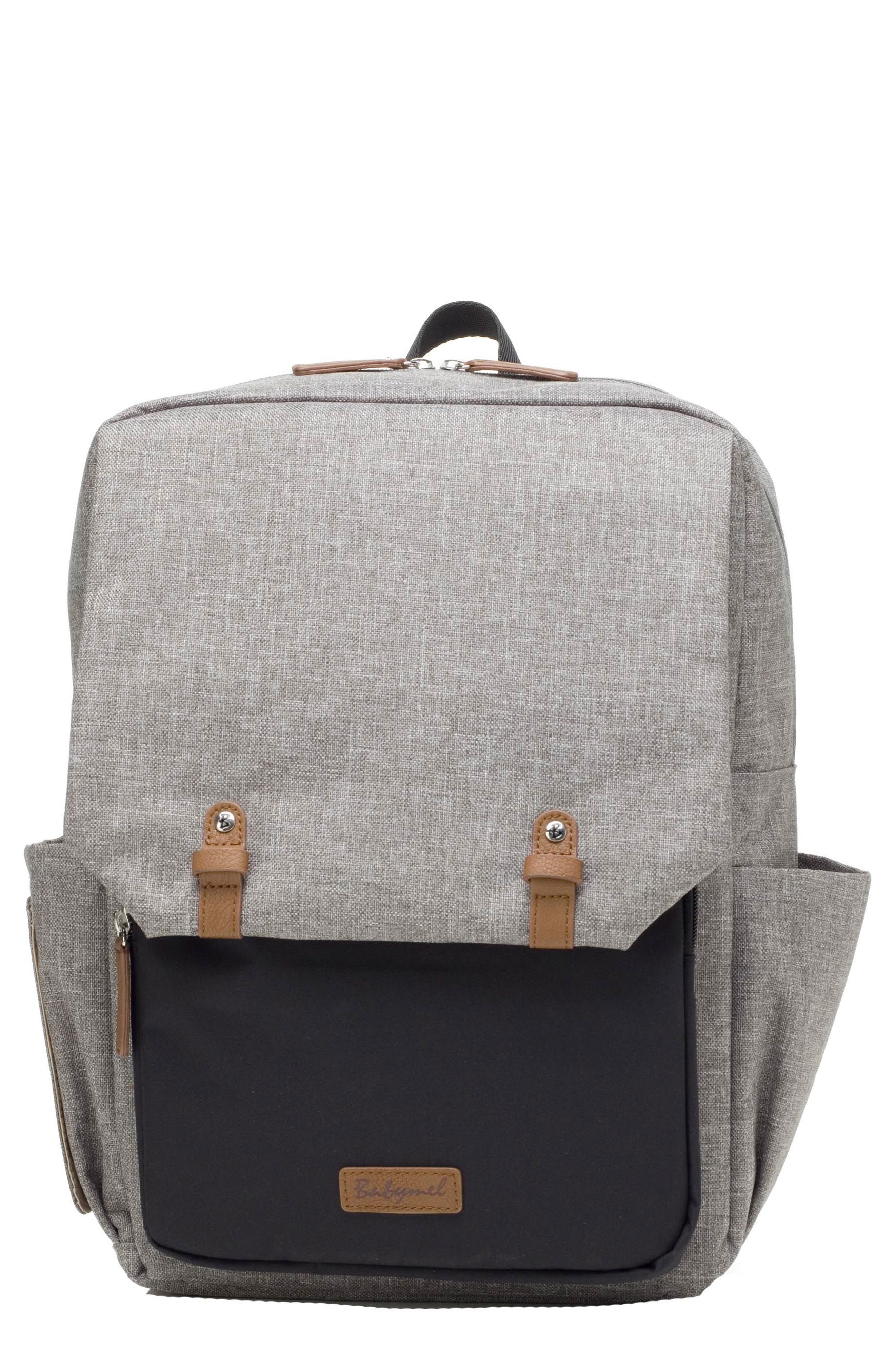 George Water Resistant Diaper Backpack,                             Main thumbnail 1, color,                             BLACK/ GREY