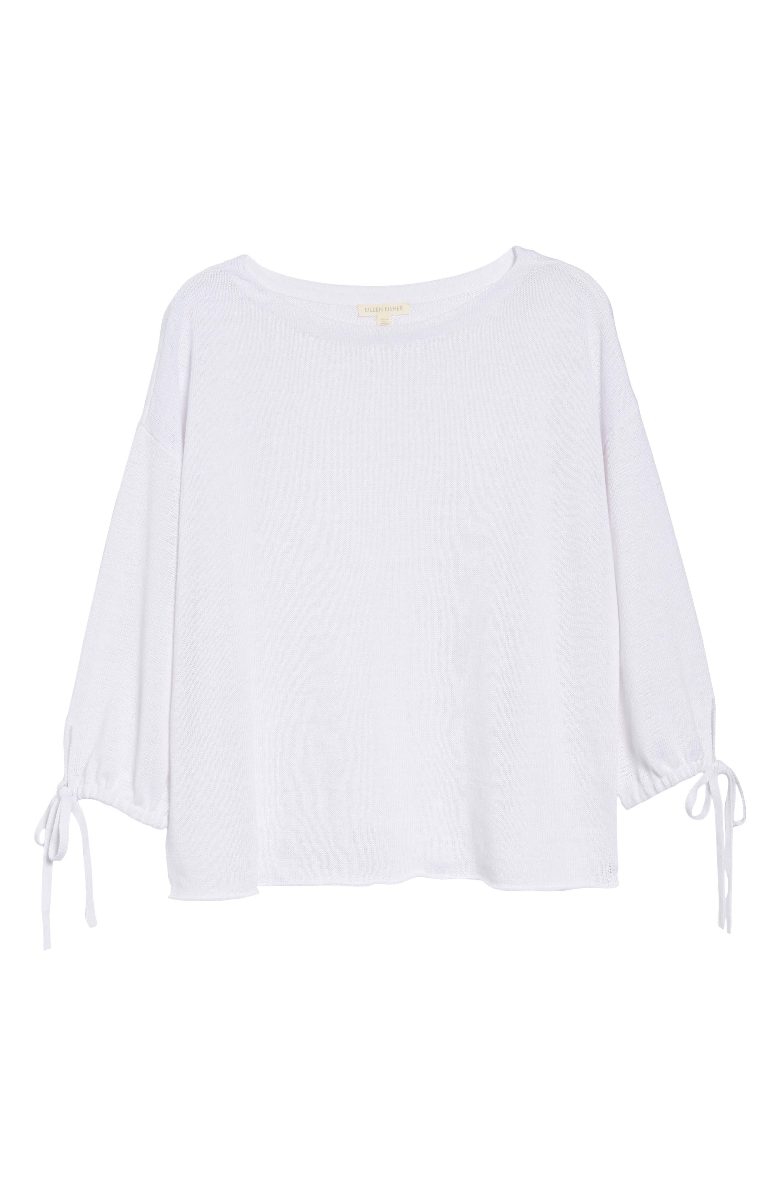 Organic Linen Sweater,                             Alternate thumbnail 22, color,