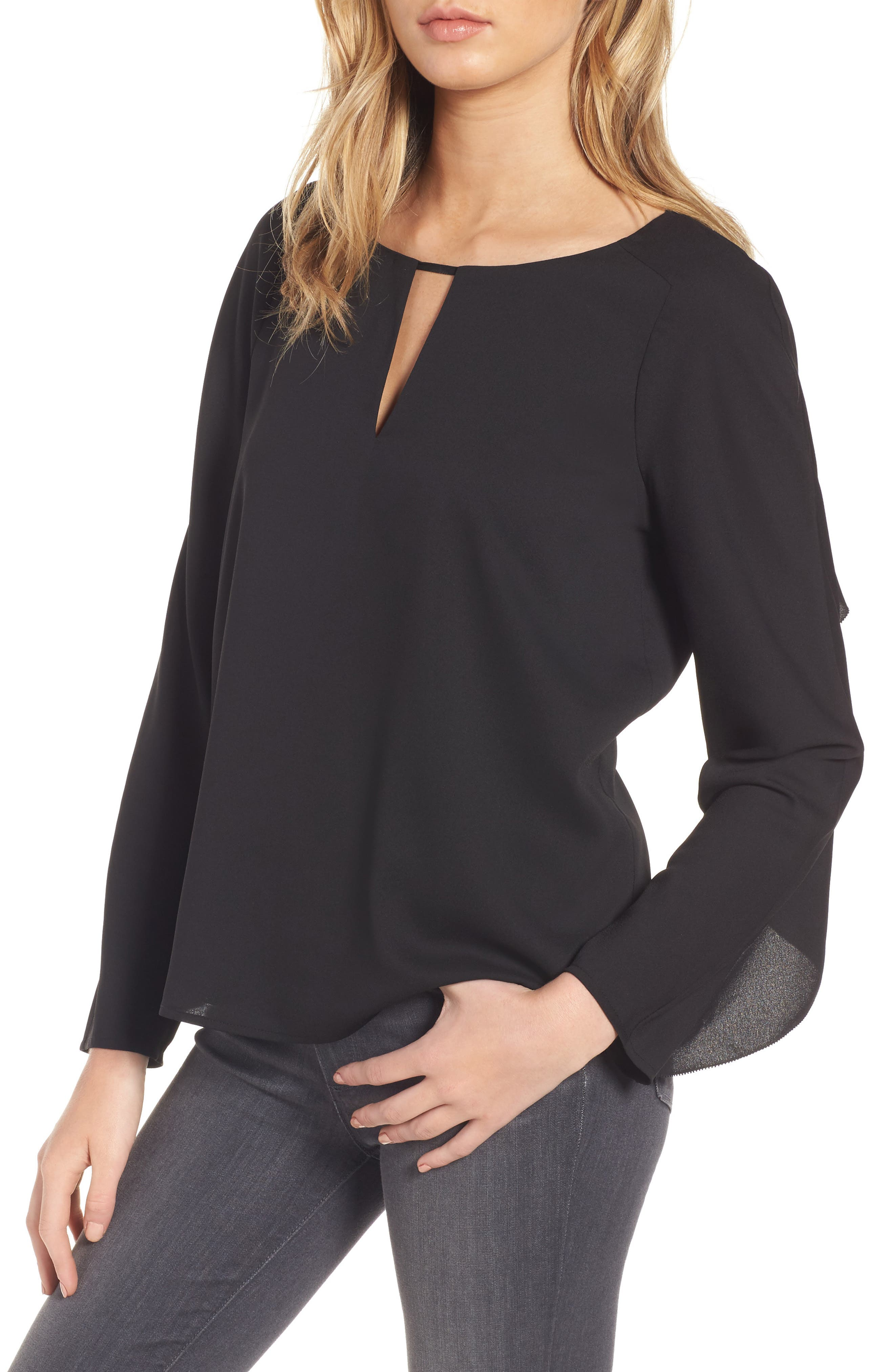 Selma Ruffle Blouse,                         Main,                         color, 001