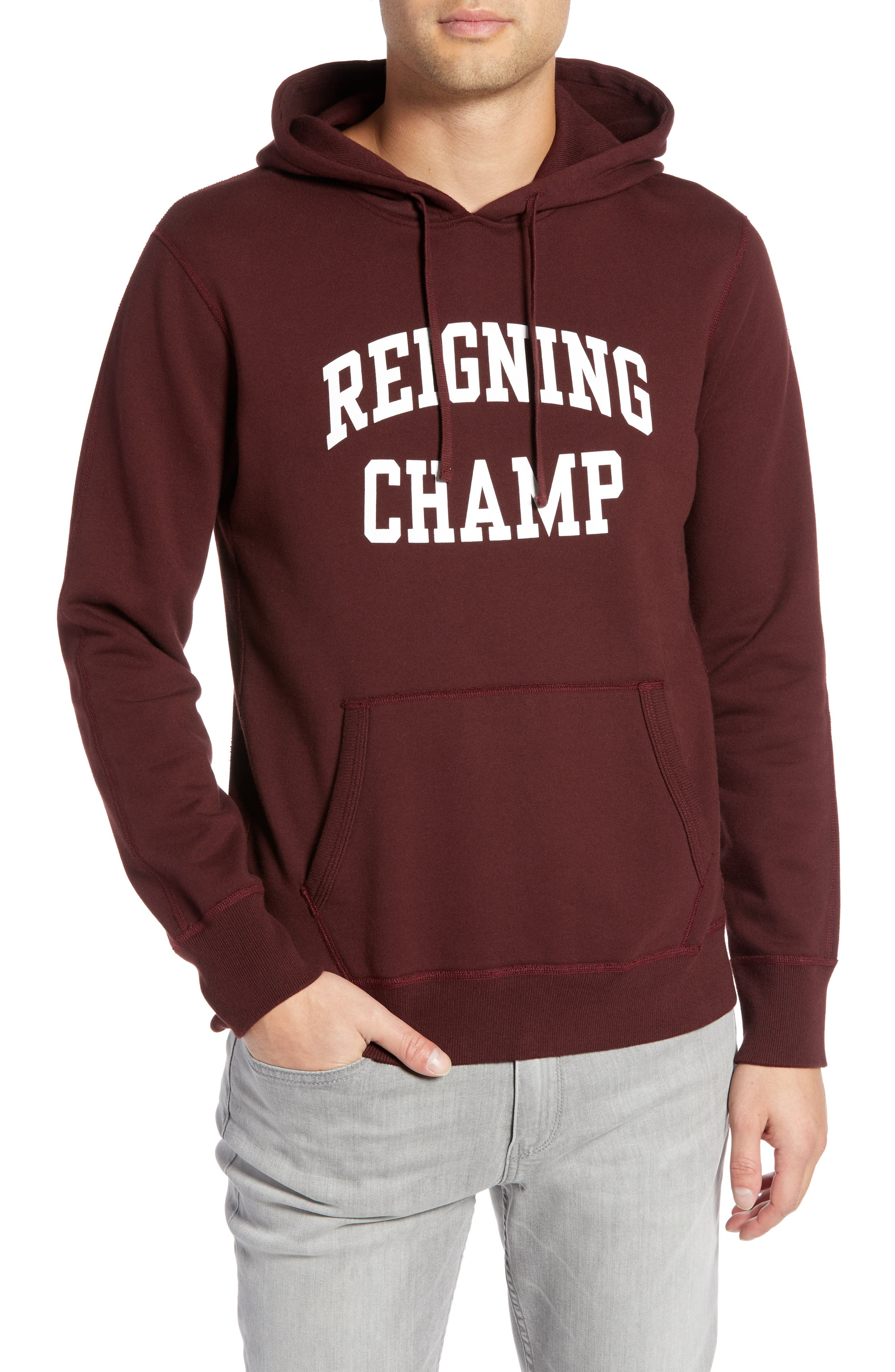 Ivy League Logo Hoodie,                         Main,                         color, CRIMSON/ WHITE