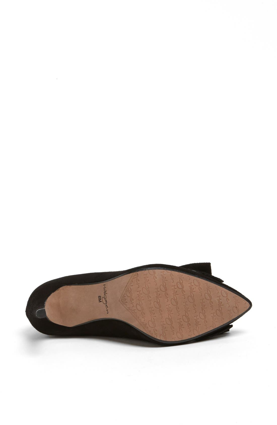 HALOGEN<SUP>®</SUP>,                             'Marla' Suede Bow Pointy Toe Pump,                             Alternate thumbnail 2, color,                             019