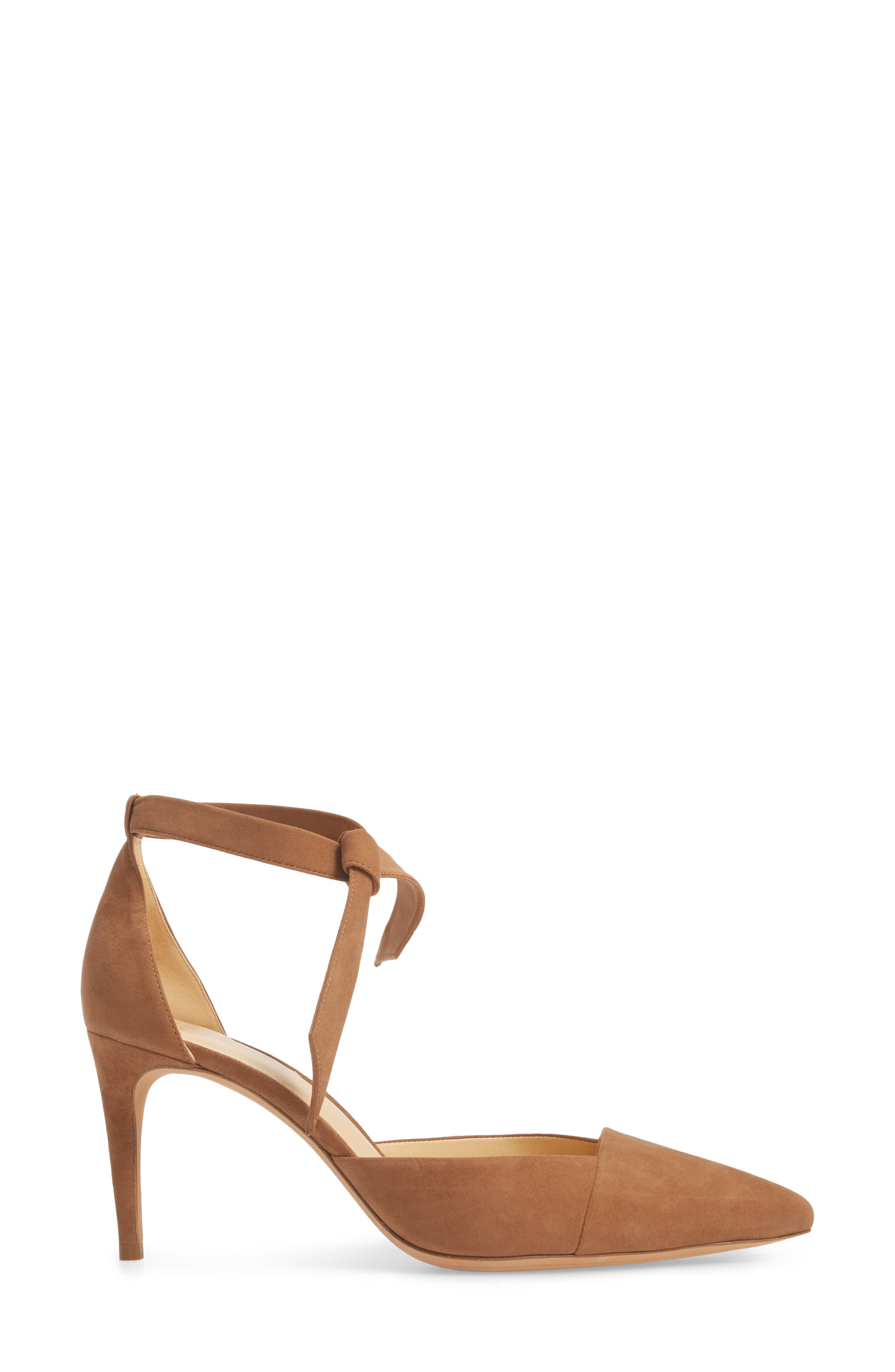 Azalea Tie Strap Pump,                             Alternate thumbnail 3, color,                             LIGHT BEIGE