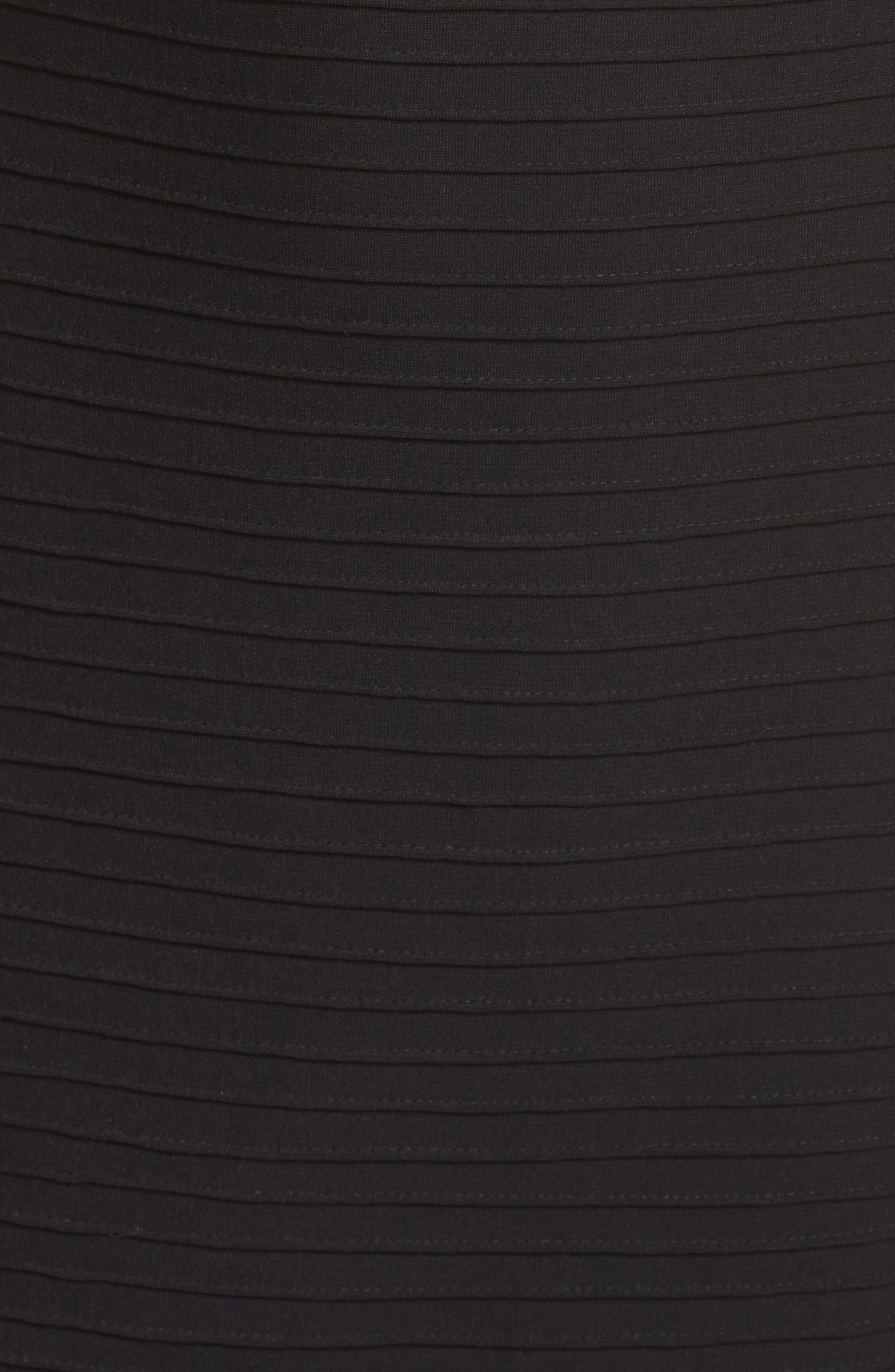 Pintuck Off the Shoulder Sheath Dress,                             Alternate thumbnail 5, color,                             001