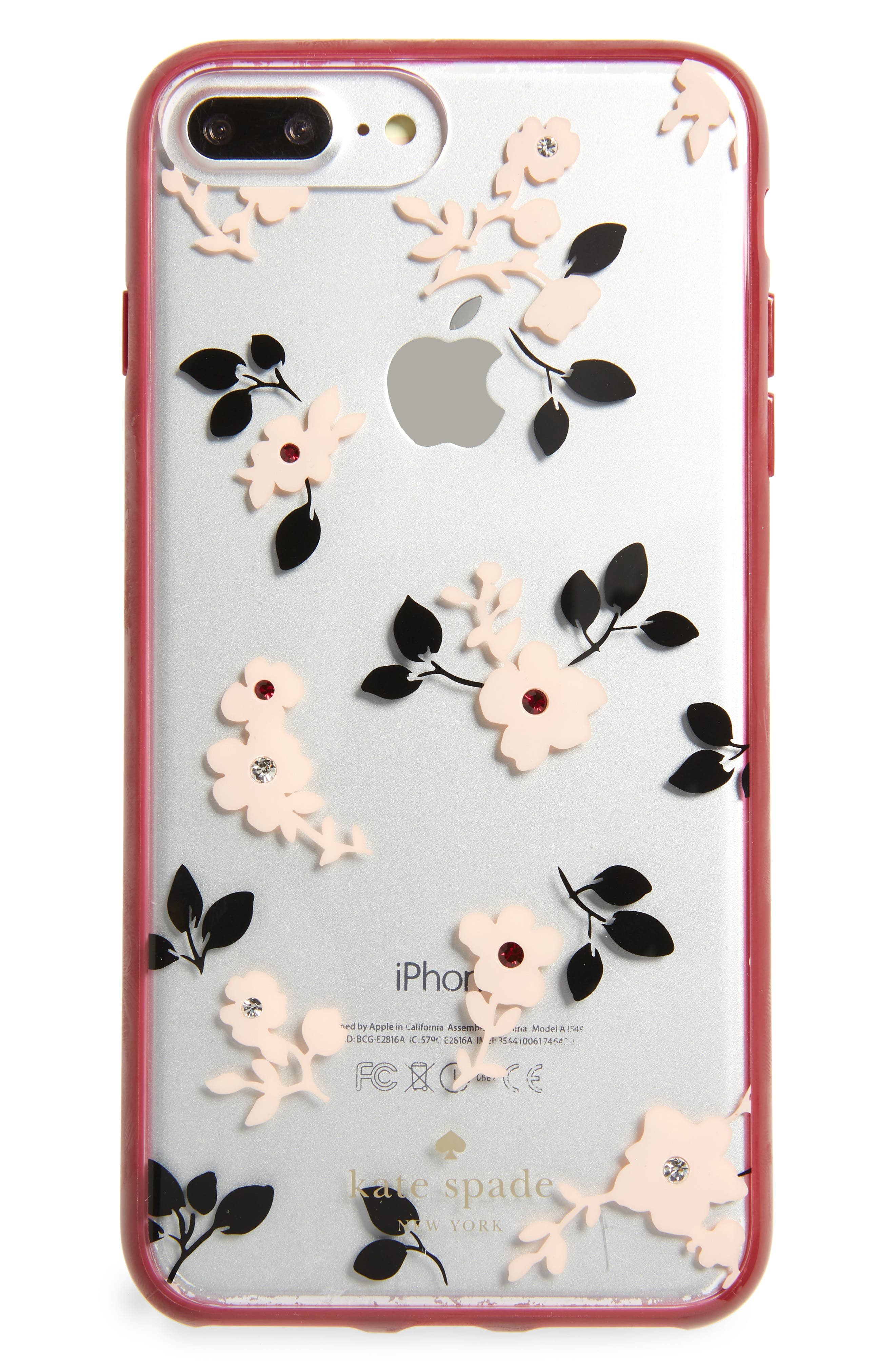 KATE SPADE NEW YORK,                             jeweled camellia iPhone 7/8 & 7/8 Plus case,                             Main thumbnail 1, color,                             650