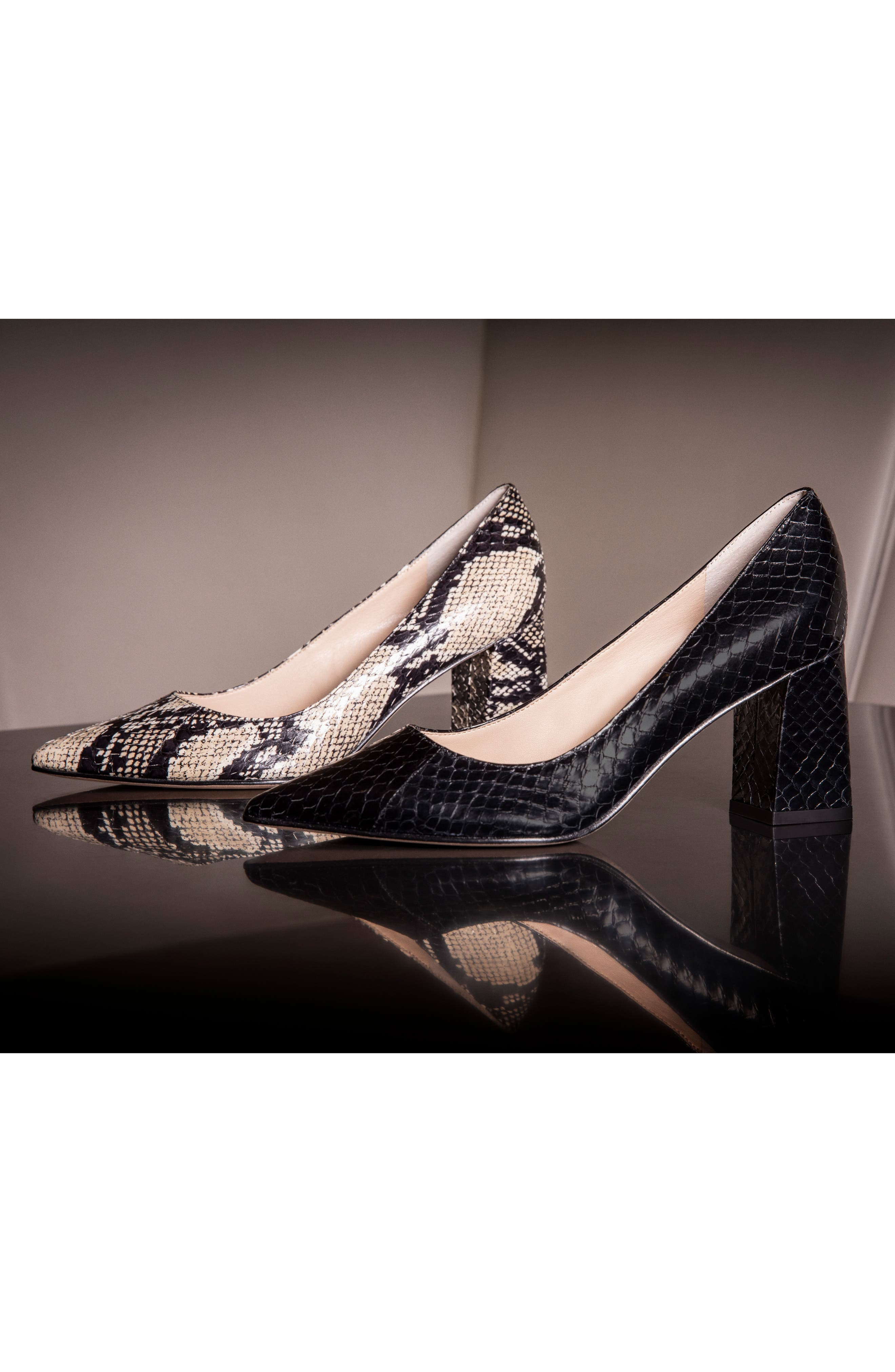 'Zala' Pump,                             Alternate thumbnail 7, color,                             BEIGE/ BLACK SNAKE PRINT