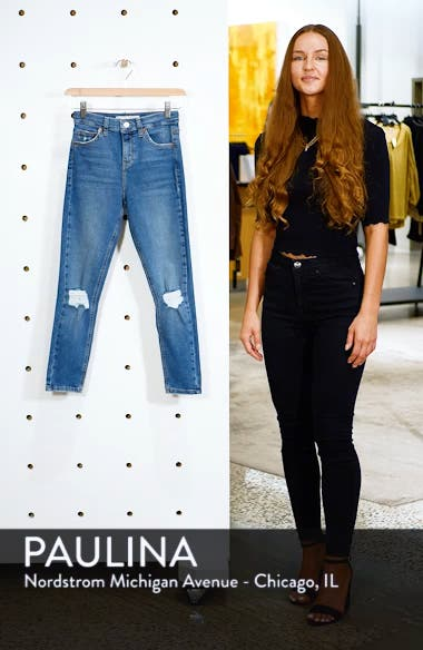 Moto 'Jamie' Ripped Skinny Ankle Jeans, sales video thumbnail