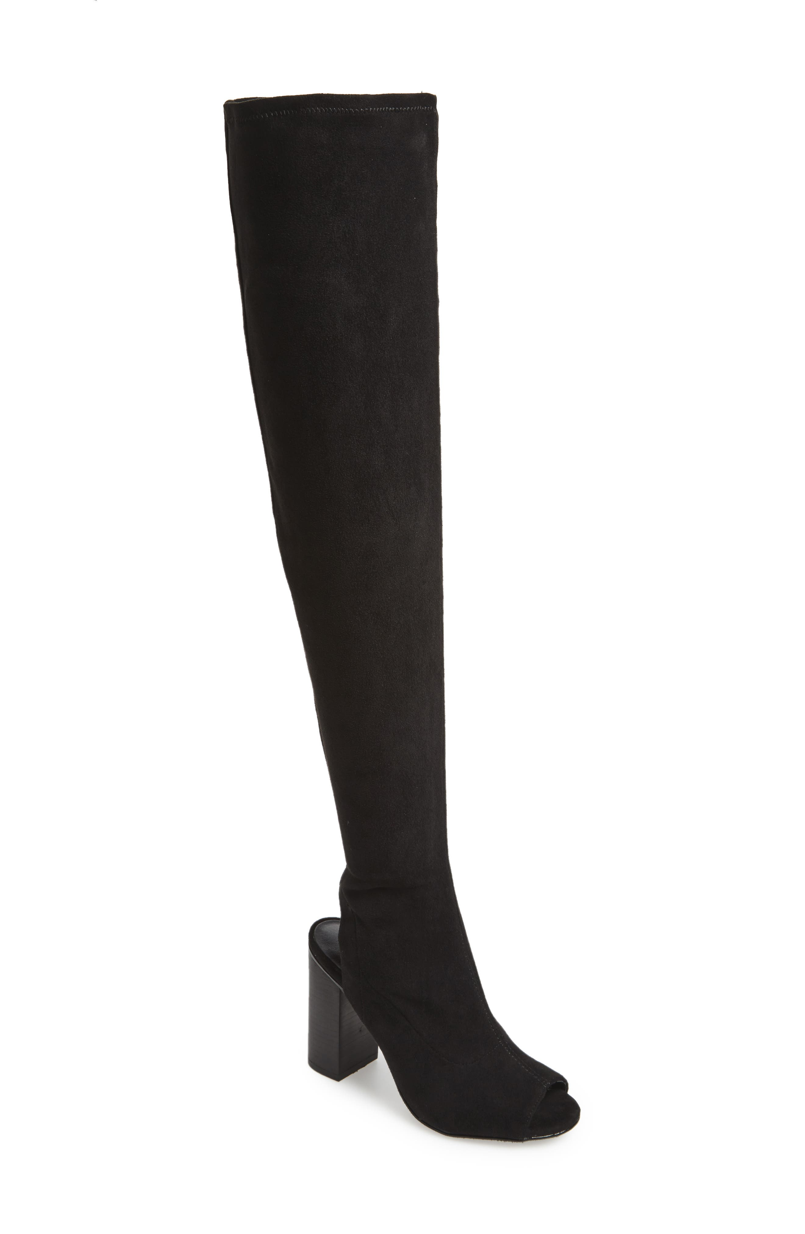 Robyn Cutout Over the Knee Boot,                             Main thumbnail 1, color,                             001