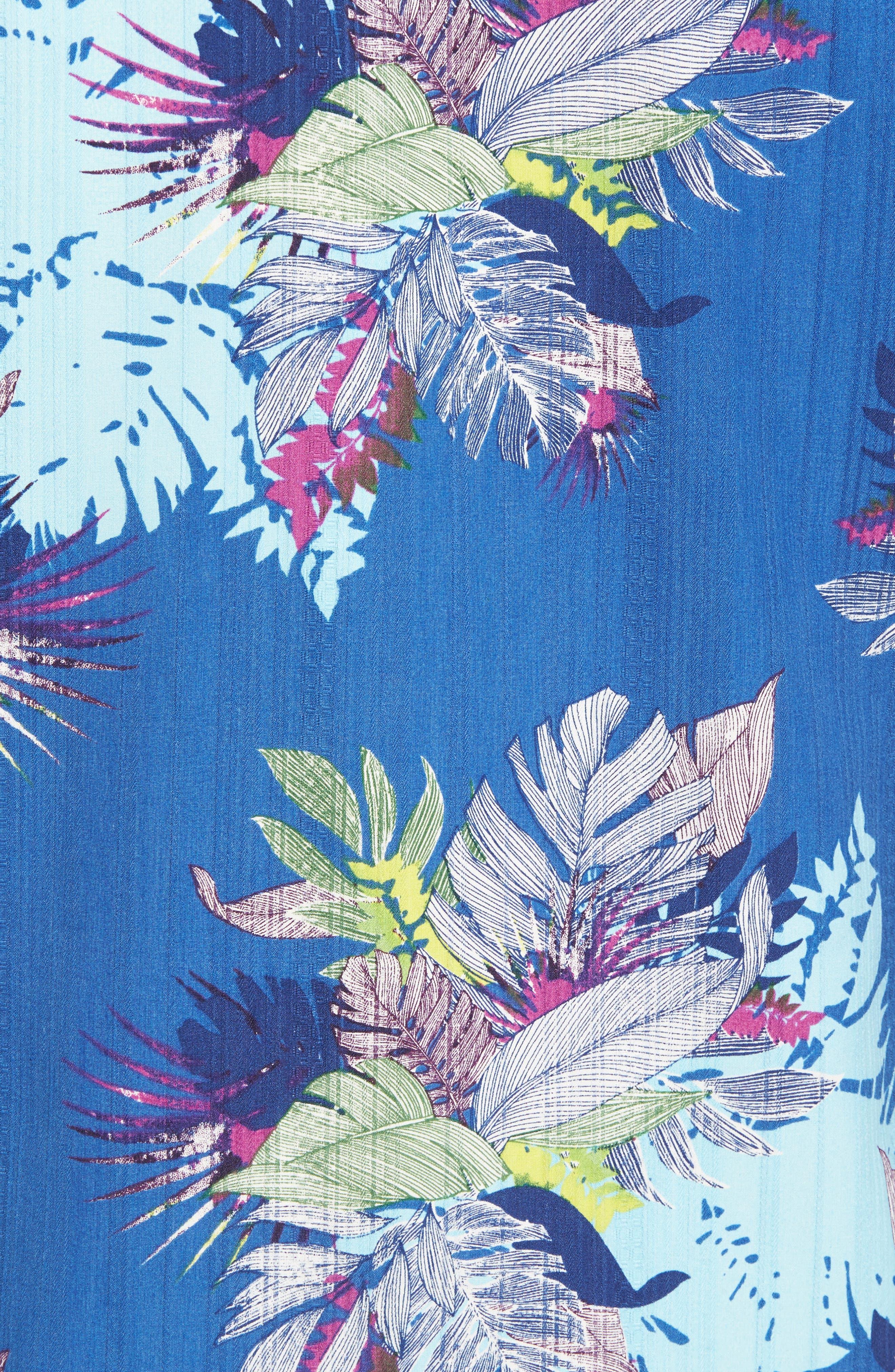 Fronds Bouquet Classic Fit Silk Blend Sport Shirt,                             Alternate thumbnail 5, color,                             400