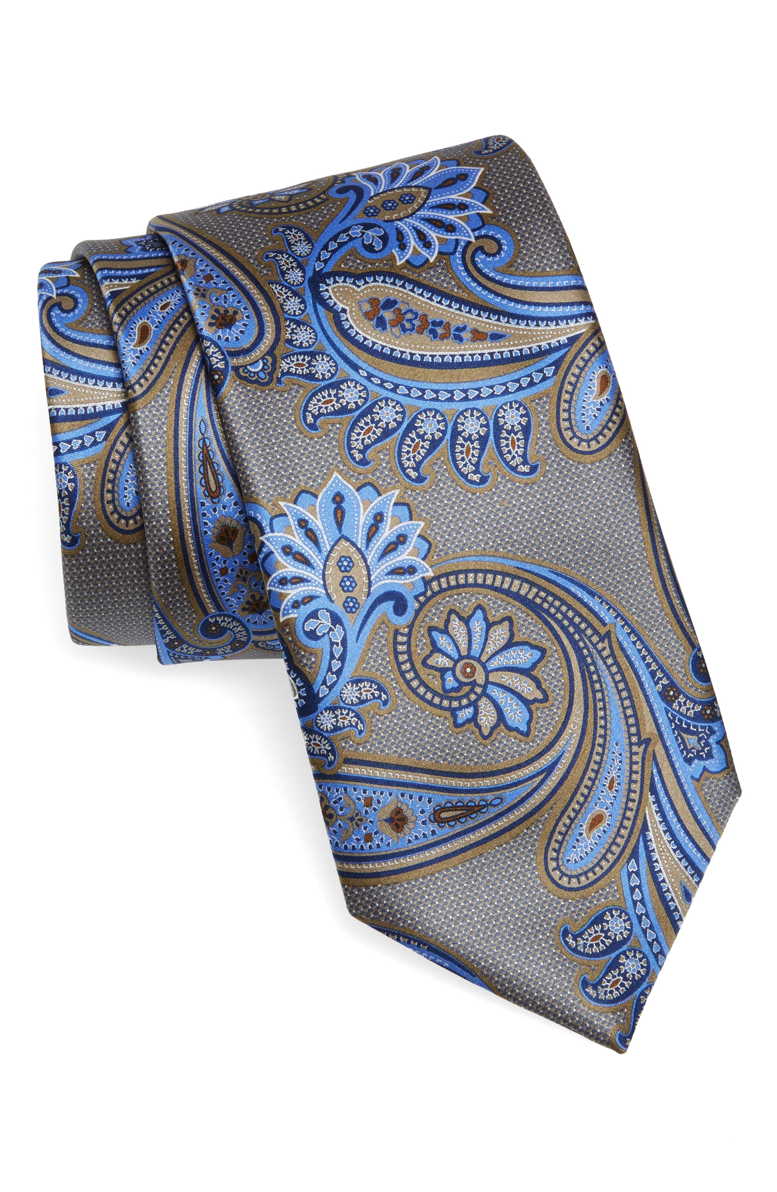 Paisley Silk Tie,                             Main thumbnail 1, color,                             020