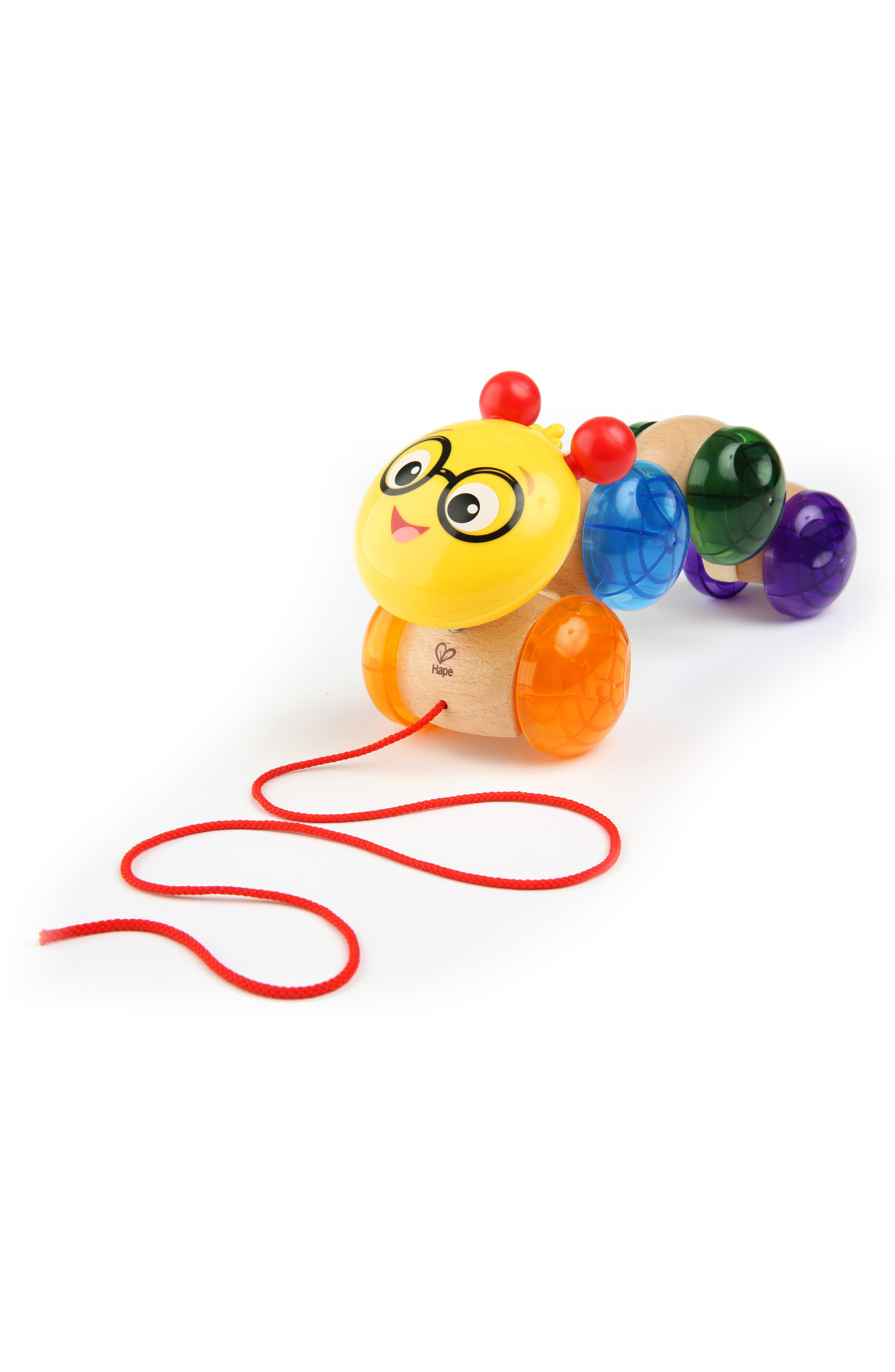 Hape Inch Along Cal Wooden Pull Toy,                             Main thumbnail 1, color,                             960