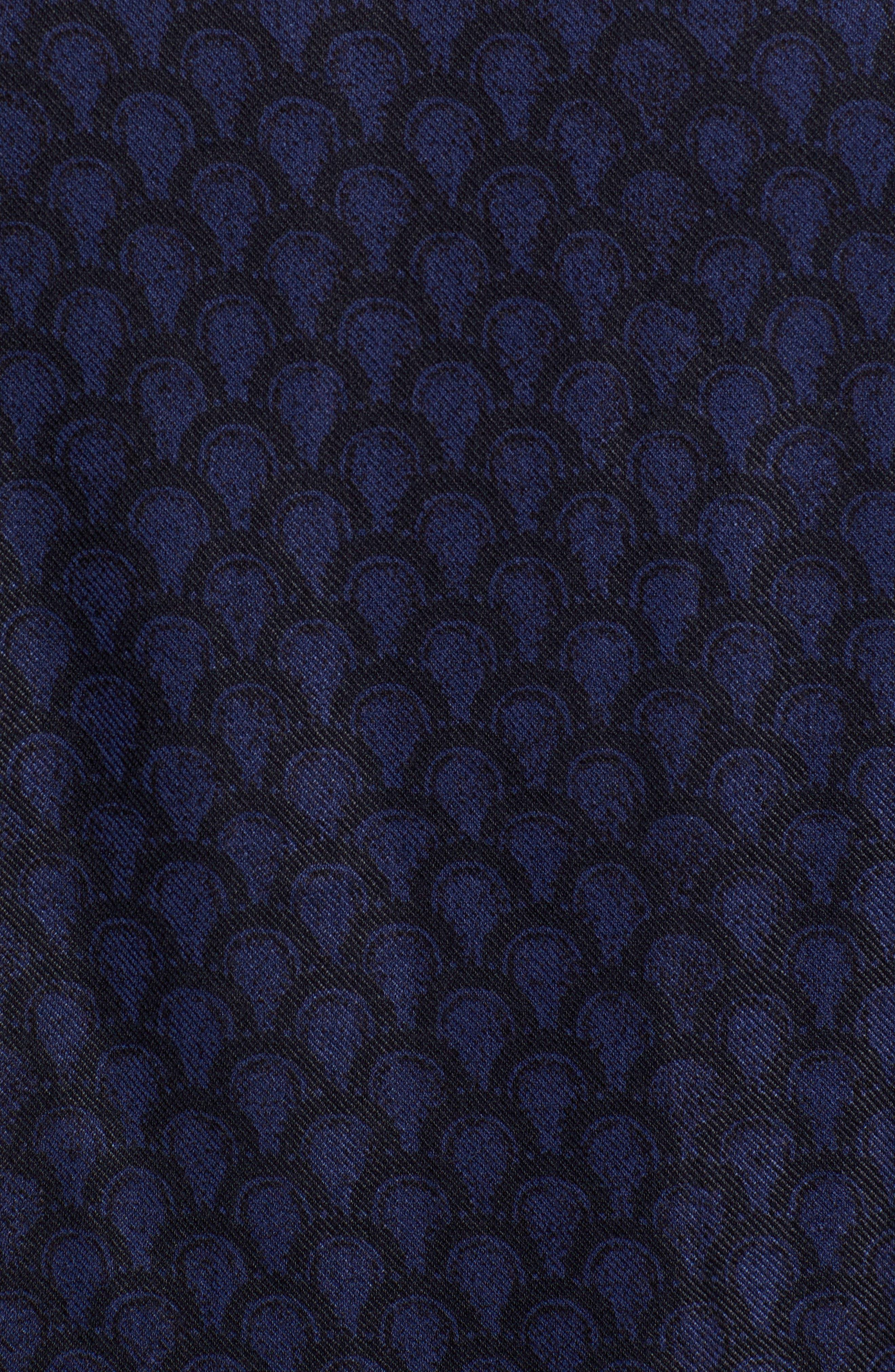 Trim Fit Print Sport Shirt,                             Alternate thumbnail 5, color,                             449