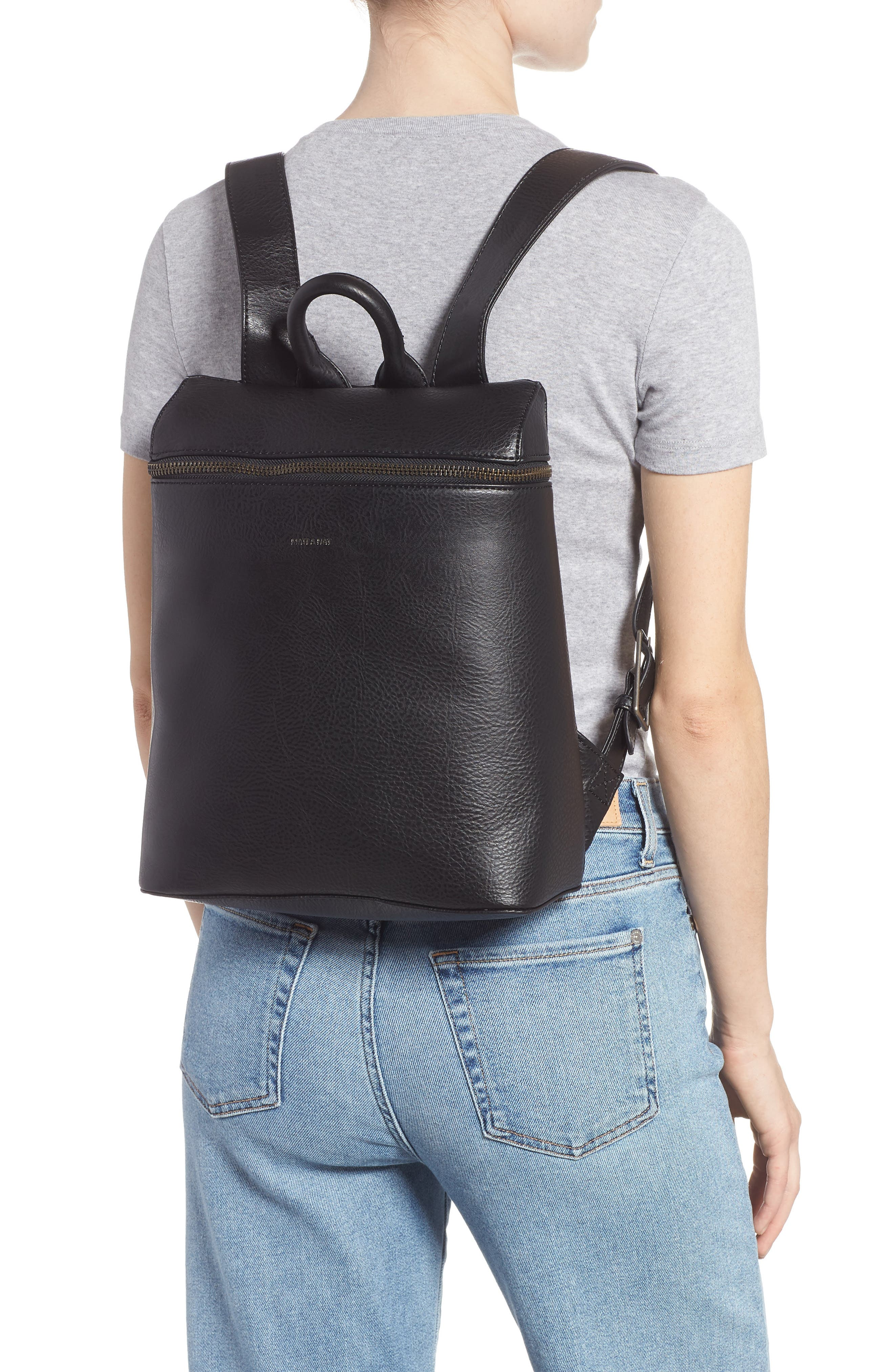 Rahi Faux Leather Backpack,                             Alternate thumbnail 2, color,                             001