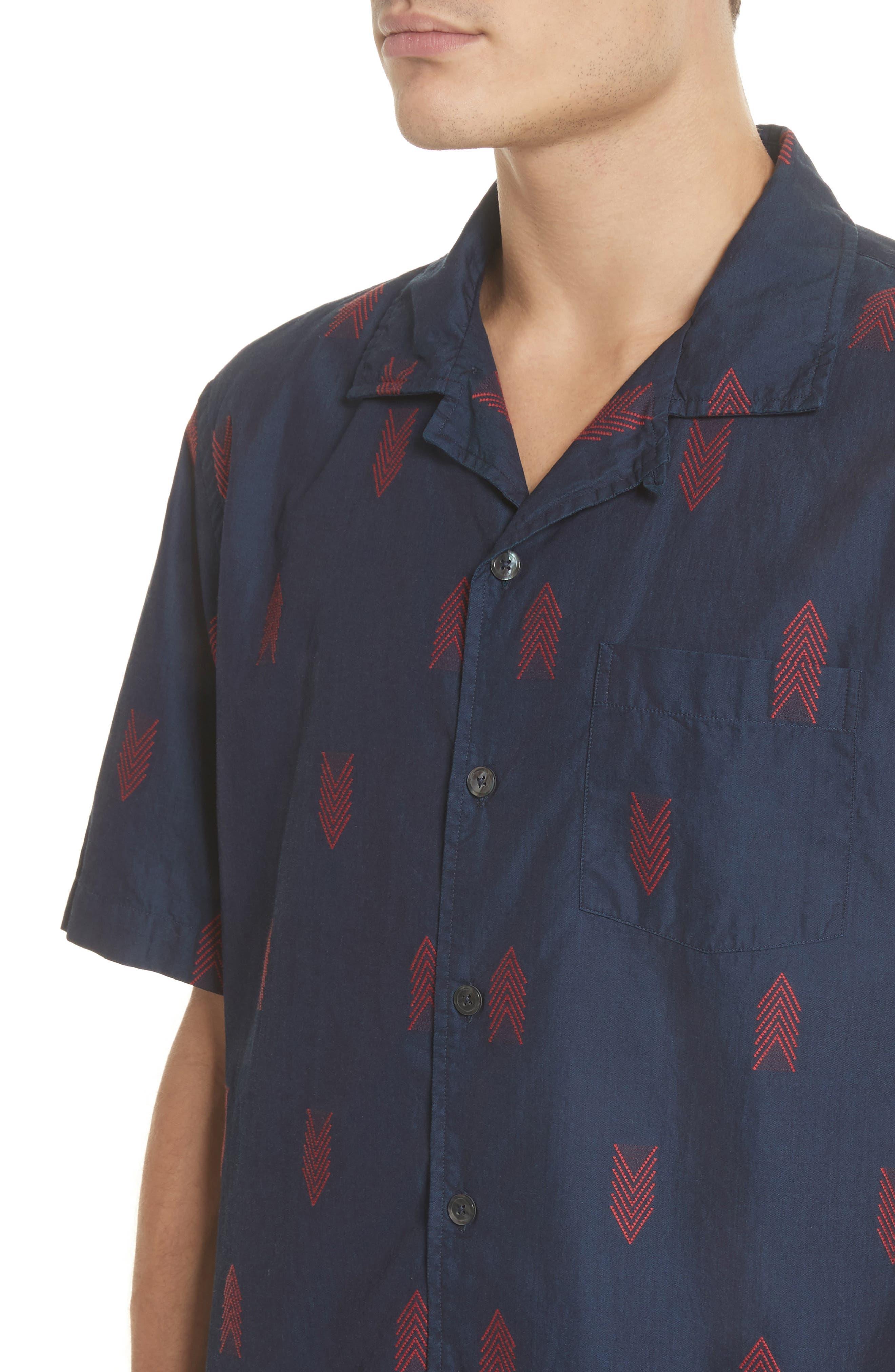 Short Sleeve Woven Shirt,                             Alternate thumbnail 4, color,                             420