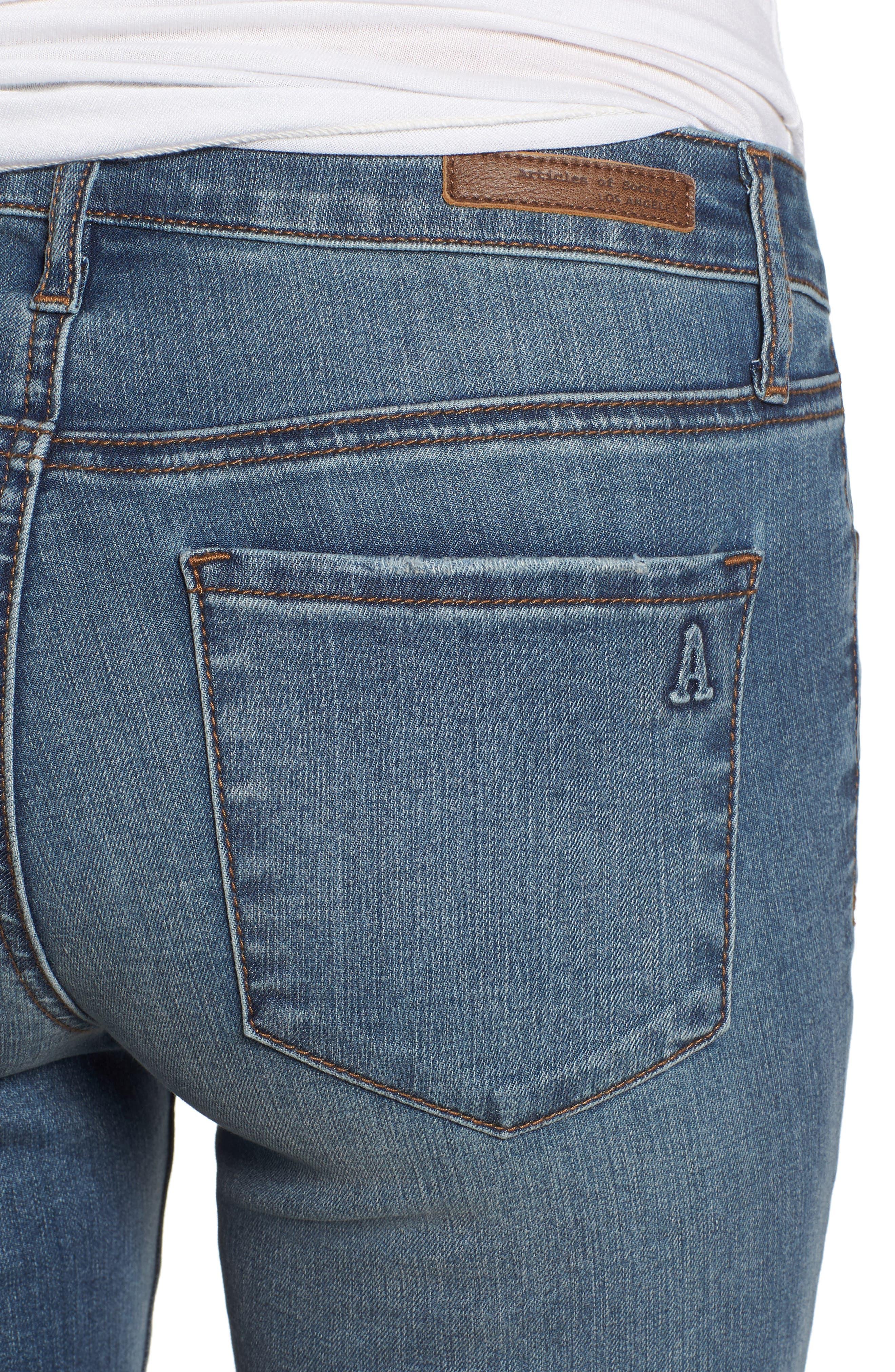 Sarah Skinny Jeans,                             Alternate thumbnail 4, color,                             400