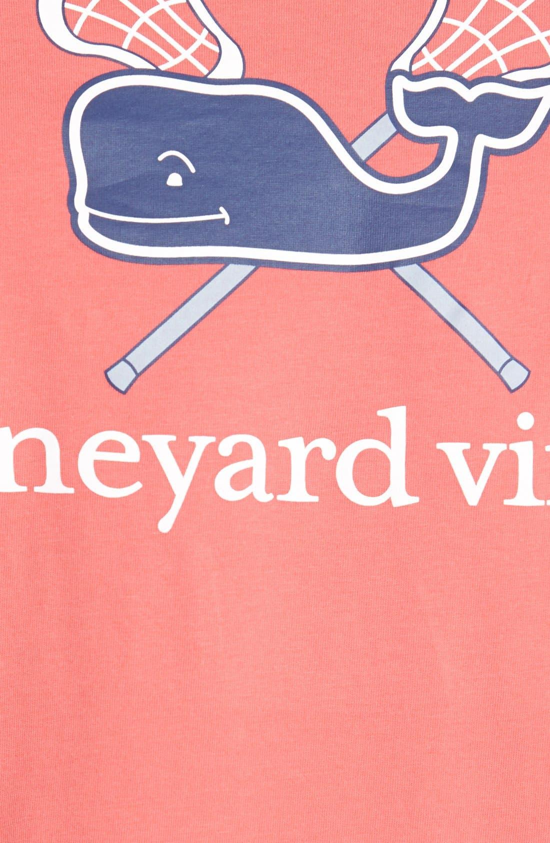 'Lacrosse Whale' Graphic T-Shirt,                             Alternate thumbnail 3, color,                             628