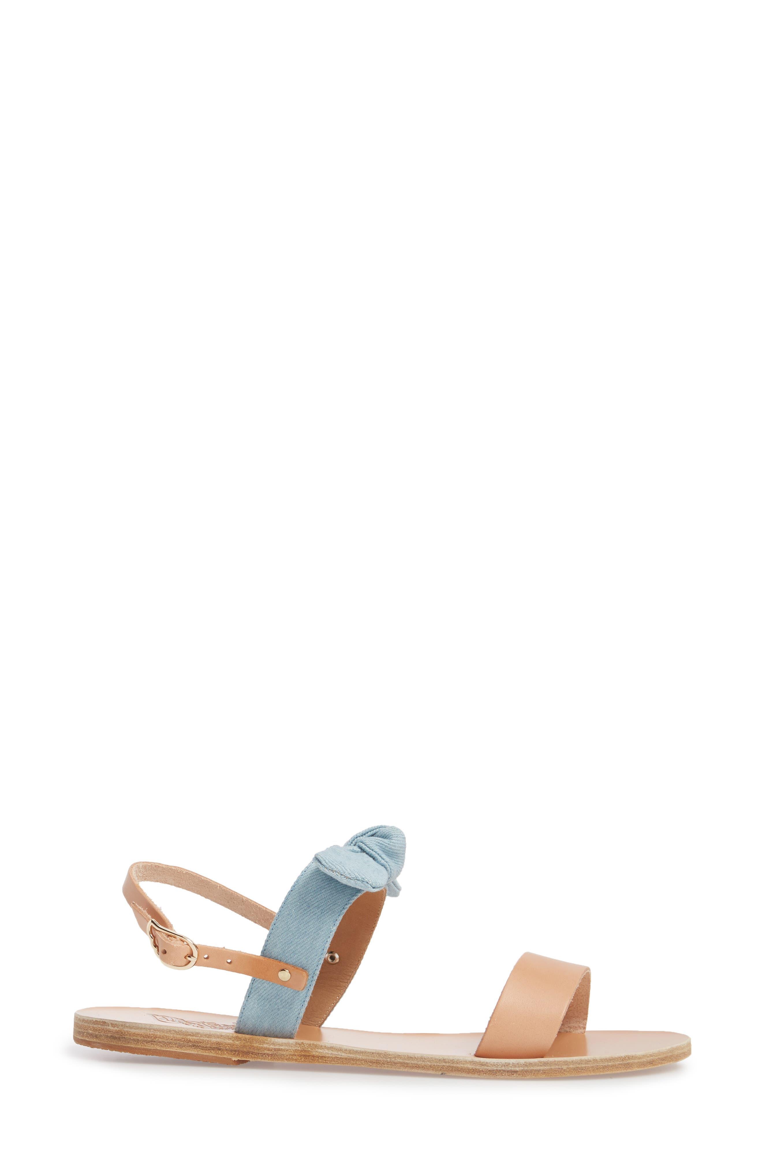 Clio Bow Sandal,                             Alternate thumbnail 3, color,                             400