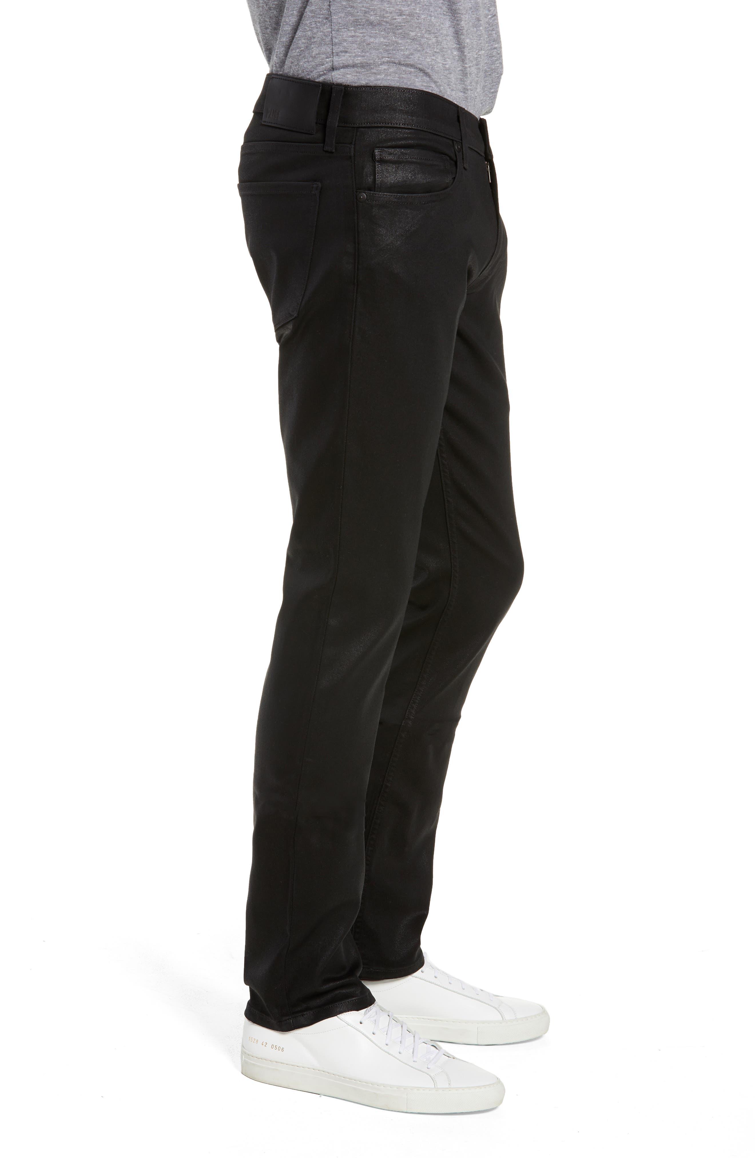 Transcend - Lennox Slim Fit Jeans,                             Alternate thumbnail 3, color,                             WILKS COATED