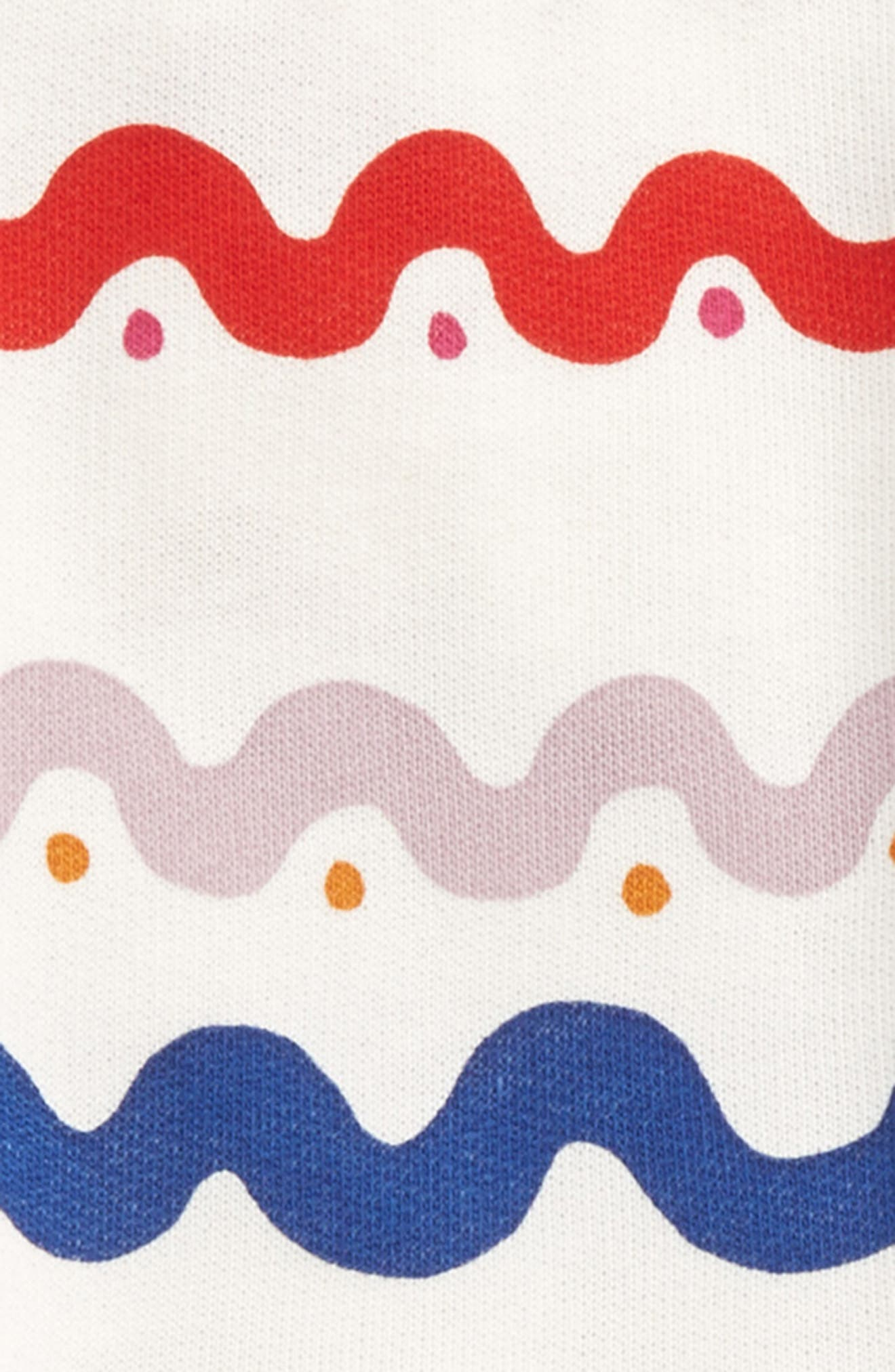 Kids India Squiggly Dress,                             Alternate thumbnail 2, color,                             WIGGLE TILE PRINT