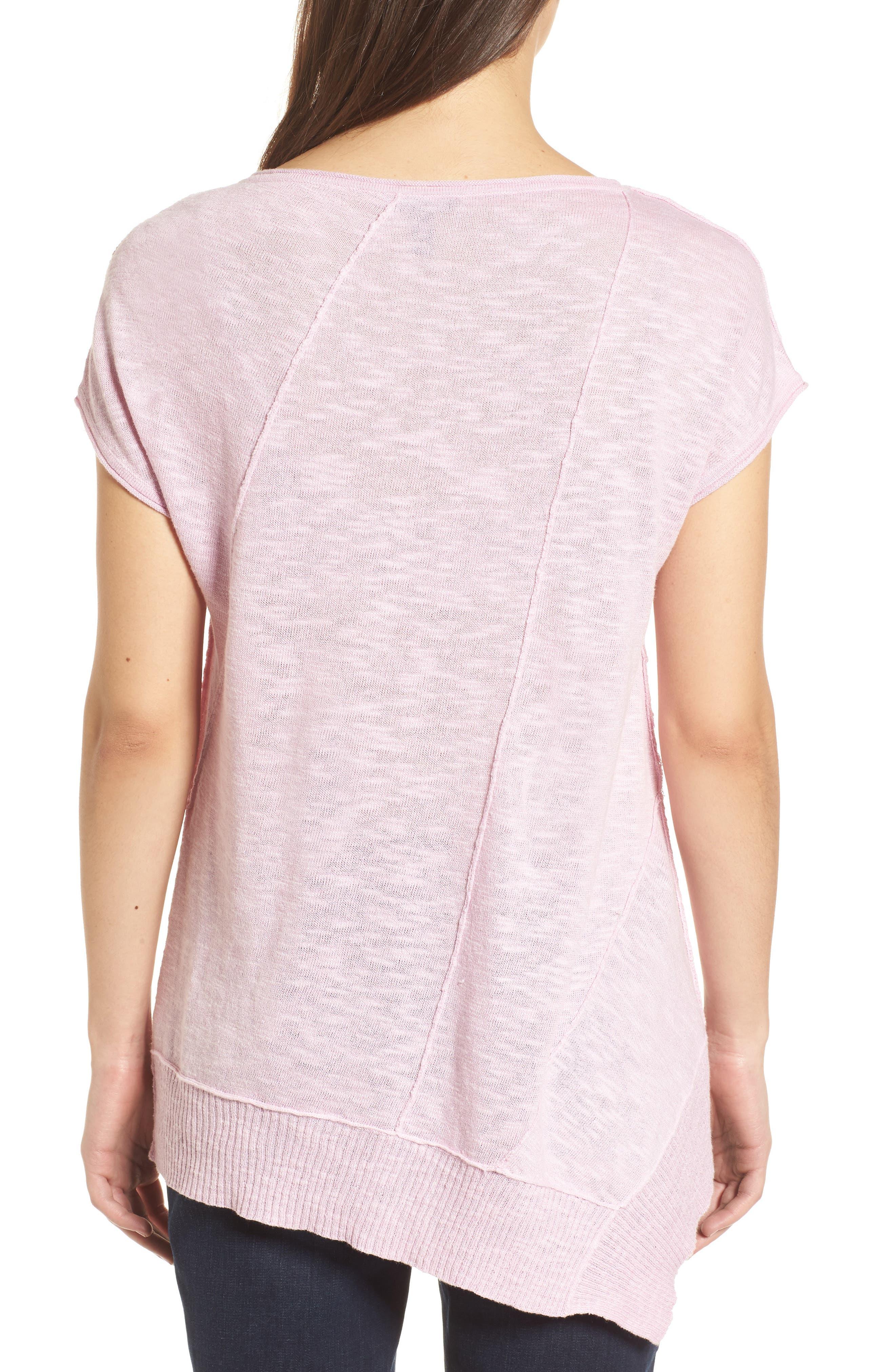 Cap Sleeve Organic Linen & Cotton Scoop Neck Top,                             Alternate thumbnail 26, color,