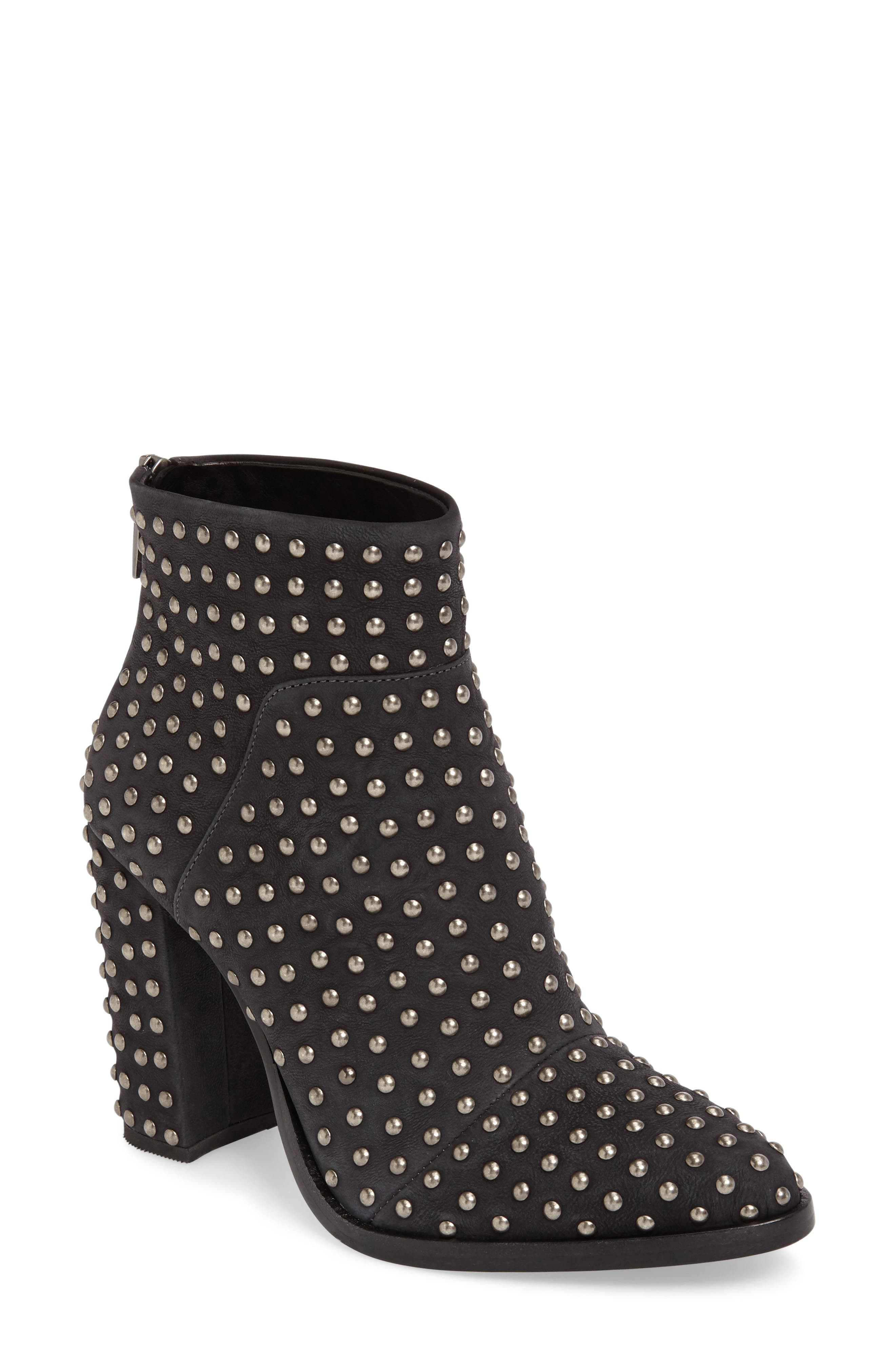 Full Monty Studded Bootie,                             Main thumbnail 1, color,                             001
