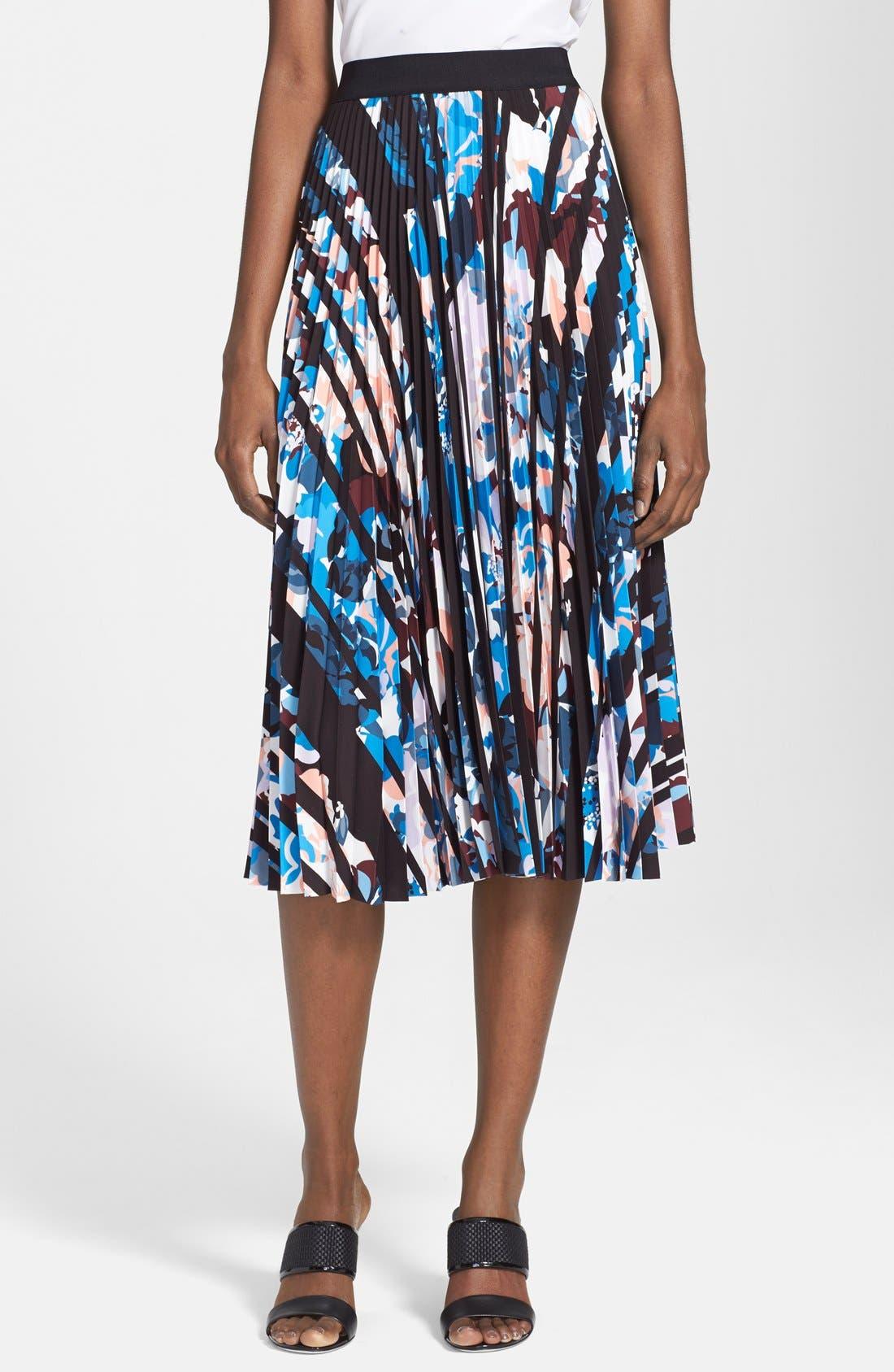 'Caident' Print Skirt,                             Main thumbnail 1, color,