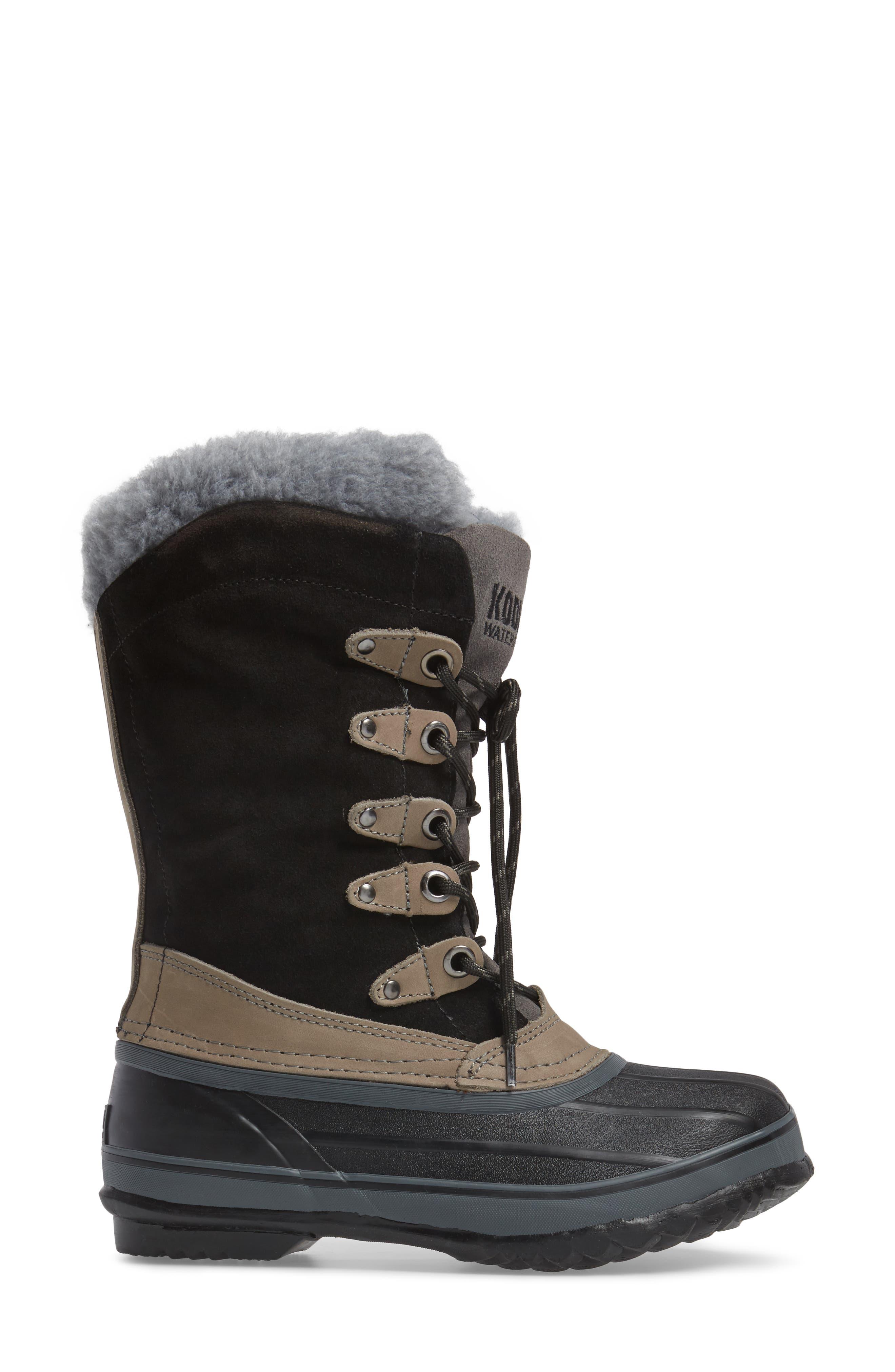 Kyra Waterproof Boot,                             Alternate thumbnail 3, color,                             001