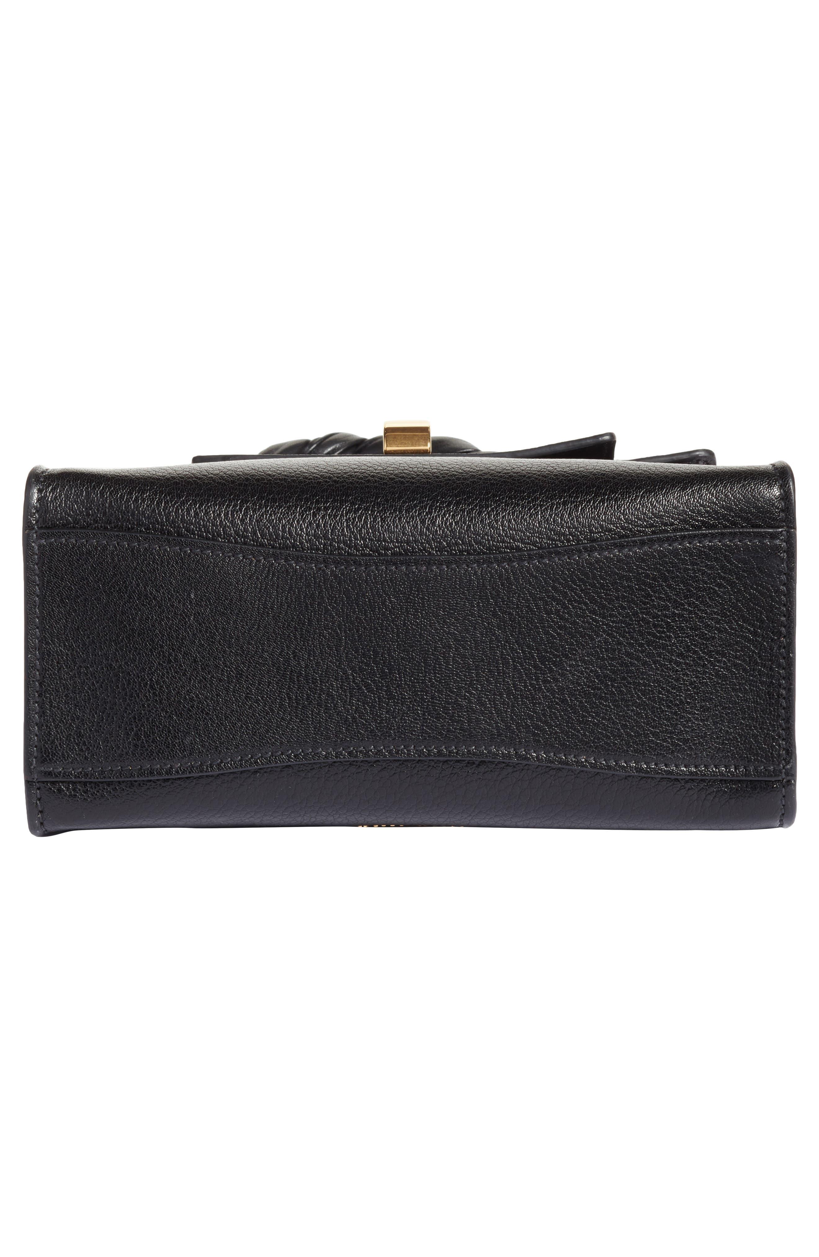 Madras Leather Top Handle Satchel,                             Alternate thumbnail 6, color,                             001