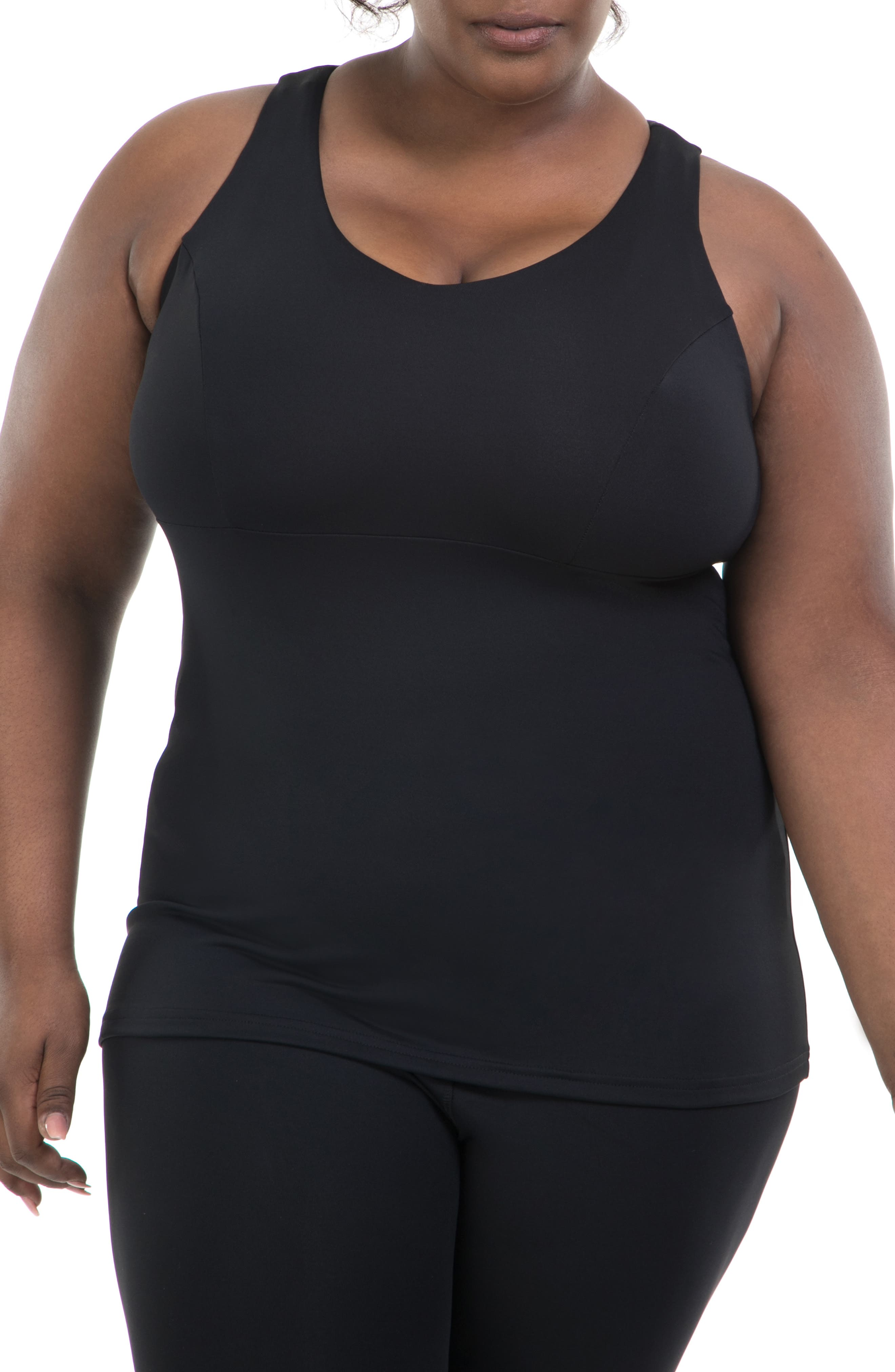 Fitted All in One Racerback Tank,                         Main,                         color, 001
