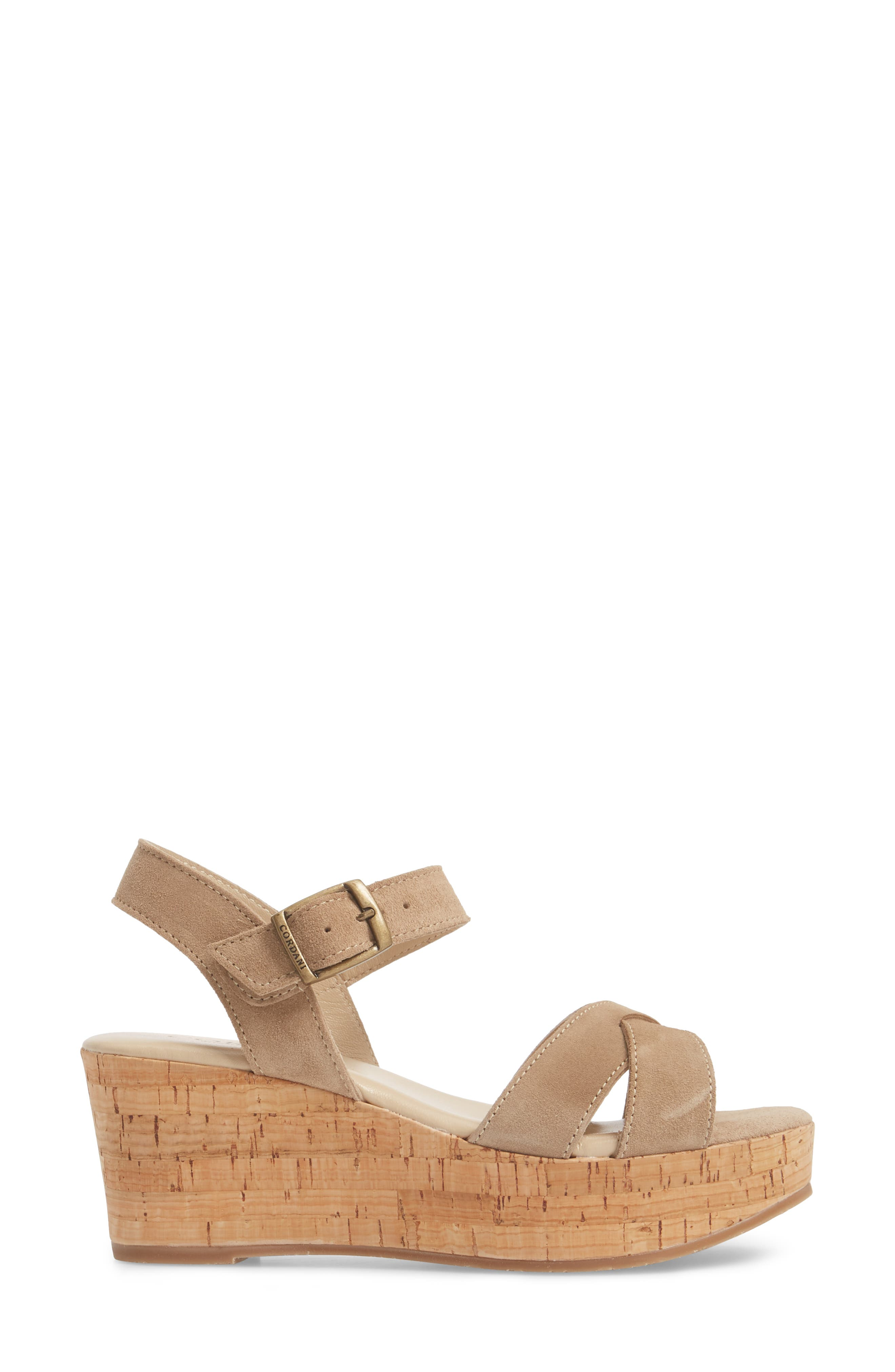 Candy Wedge Sandal,                             Alternate thumbnail 3, color,                             CORDA SUEDE