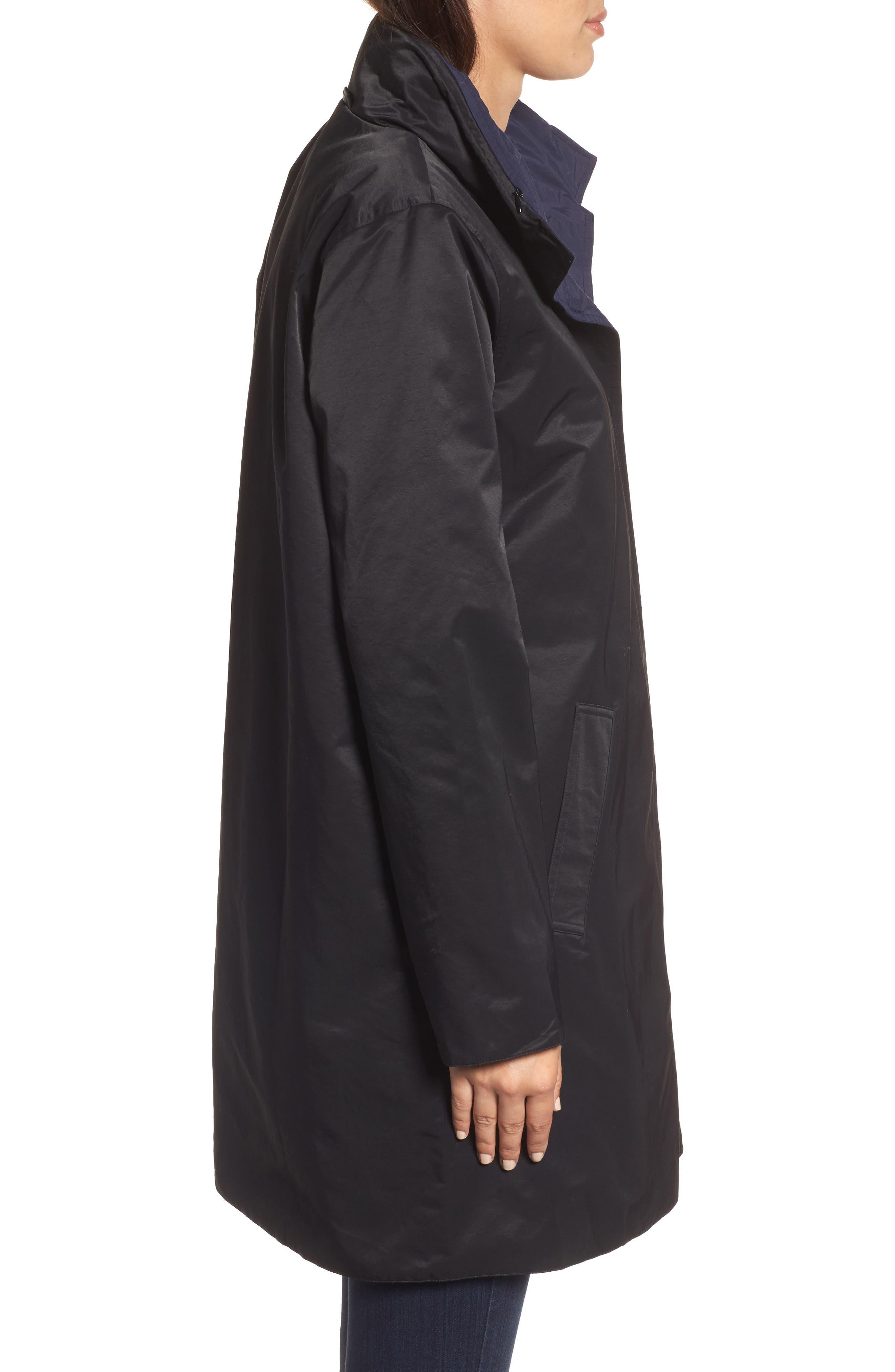 Reversible A-Line Coat,                             Alternate thumbnail 3, color,                             006