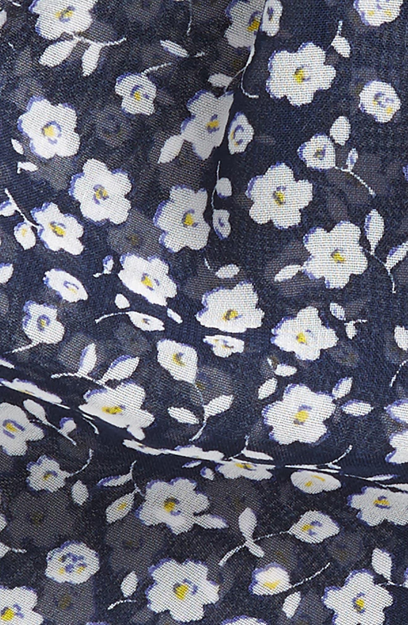 Floral Draped Scrunchie,                             Alternate thumbnail 2, color,                             NAVY