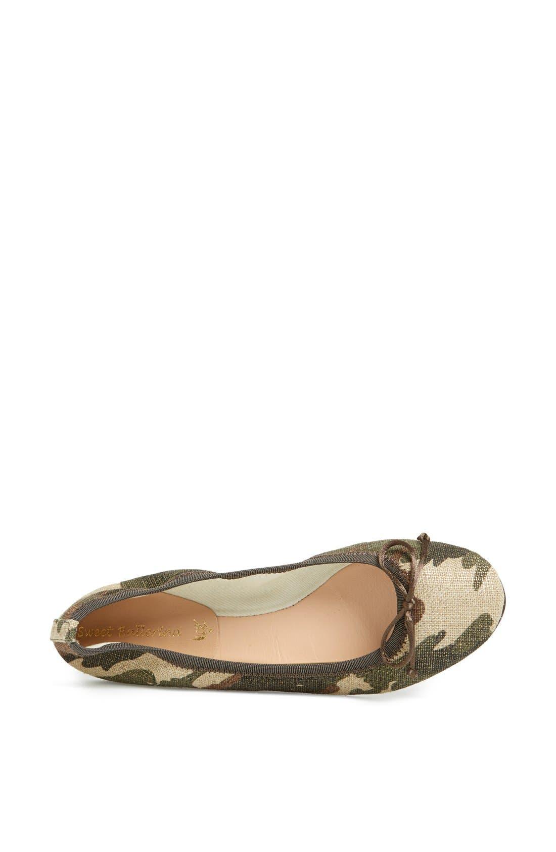 Camouflage Ballet Flat,                             Alternate thumbnail 4, color,                             340