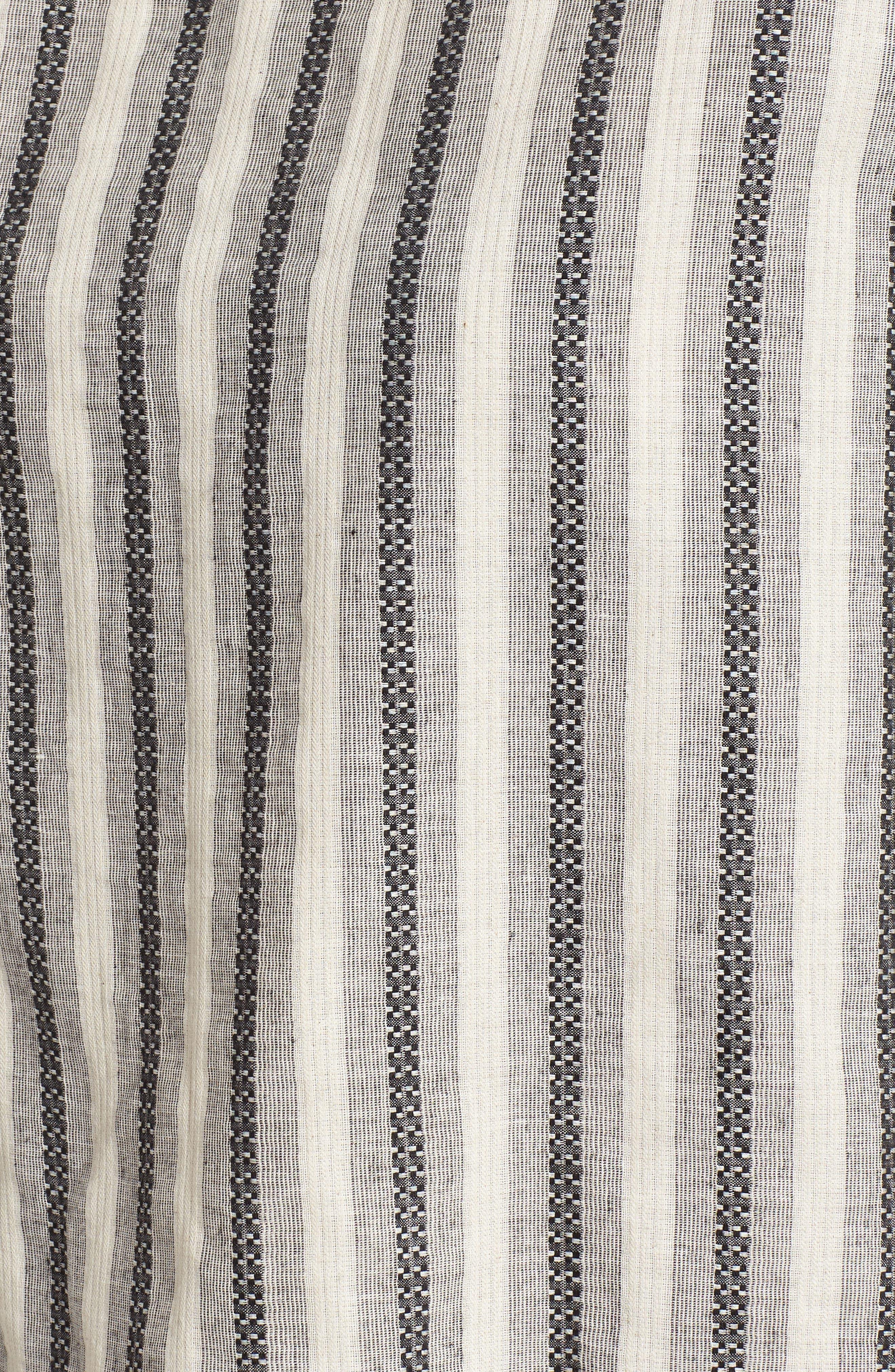 Stripe Ruffle Trim Top,                             Alternate thumbnail 6, color,                             100