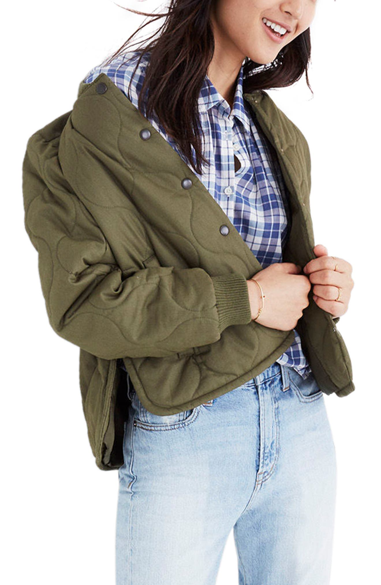 Quilted Military Jacket,                         Main,                         color, 300