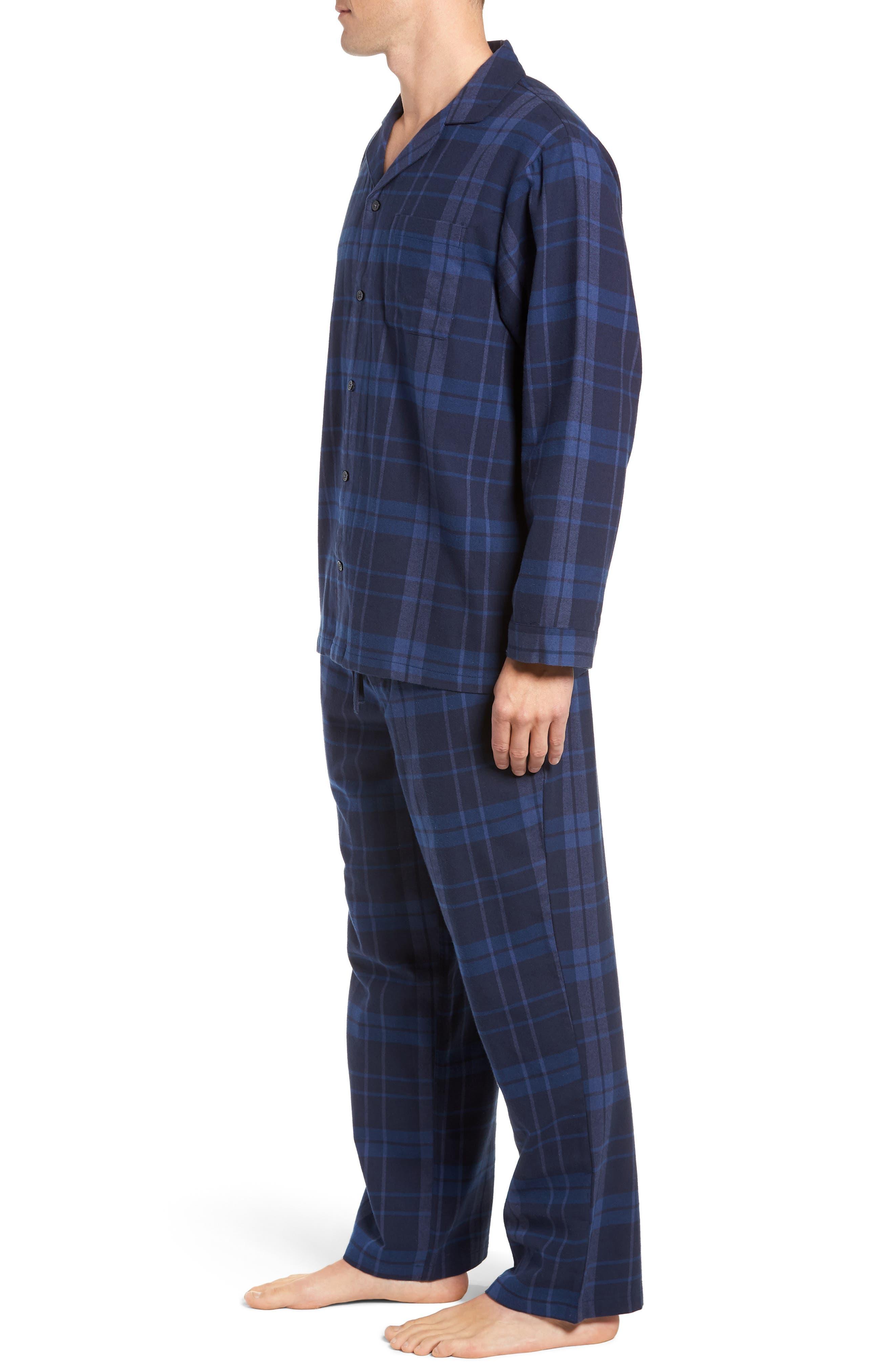 '824' Flannel Pajama Set,                             Alternate thumbnail 62, color,