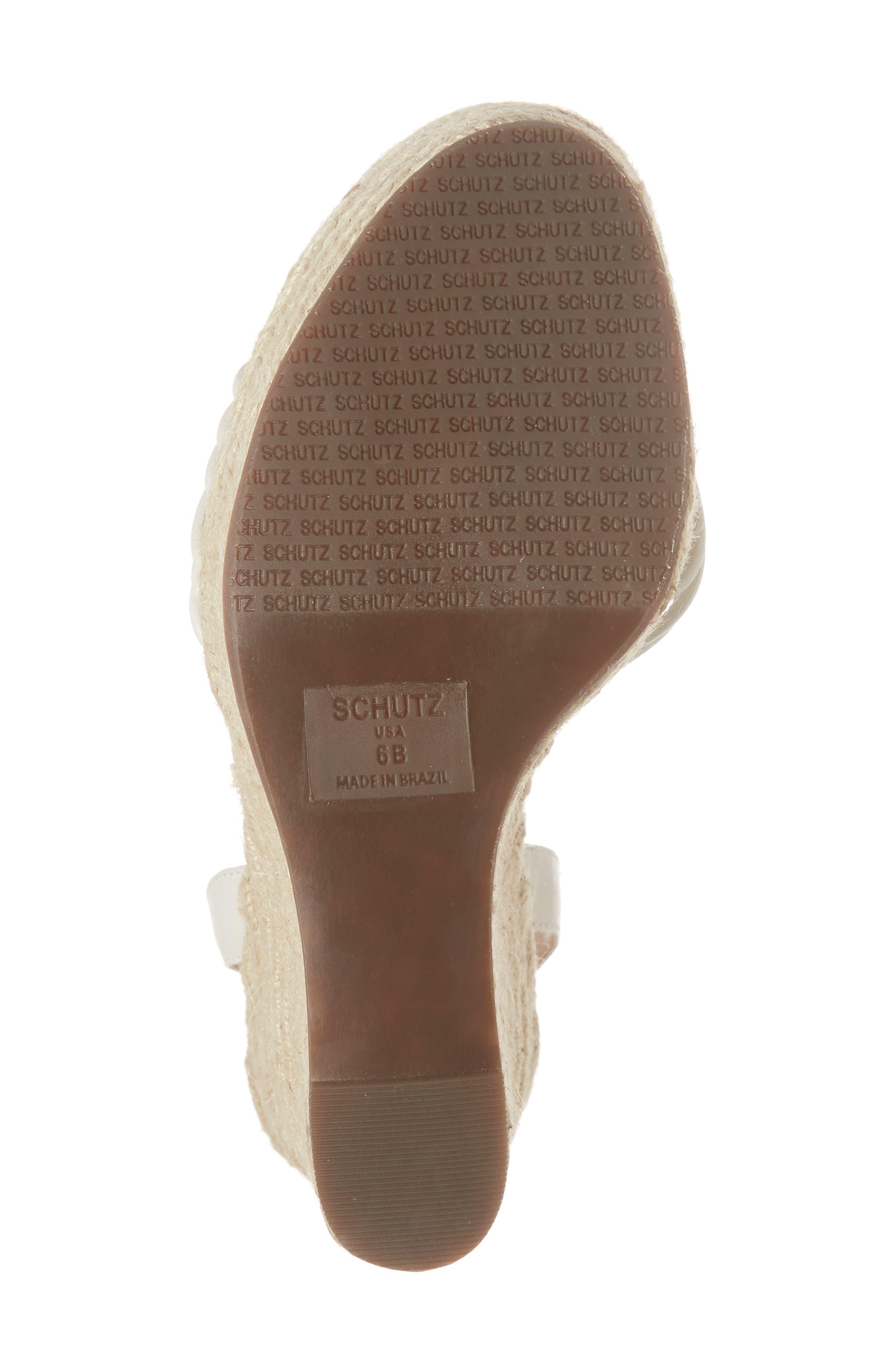 Gianne Platform Wedge Sandal,                             Alternate thumbnail 6, color,                             PEARL FABRIC